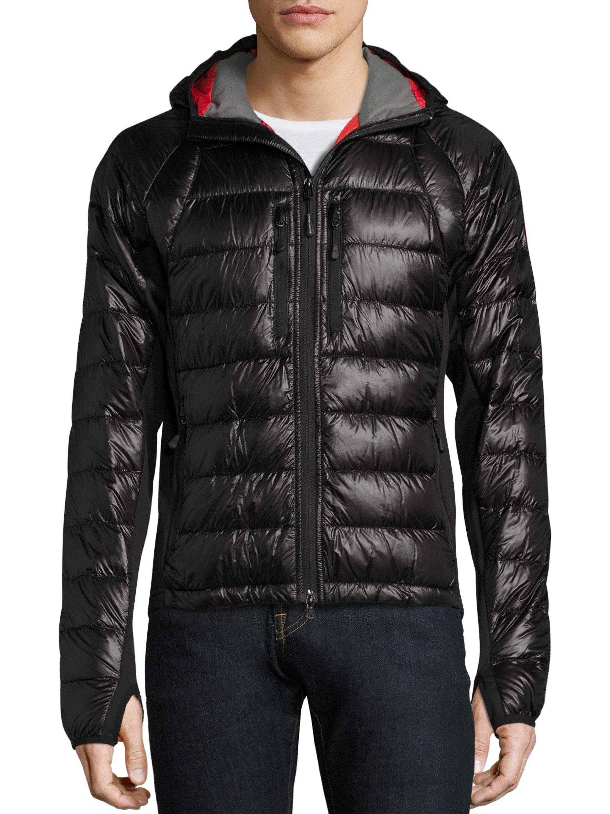 canada goose hybridge black quilted shell jacket
