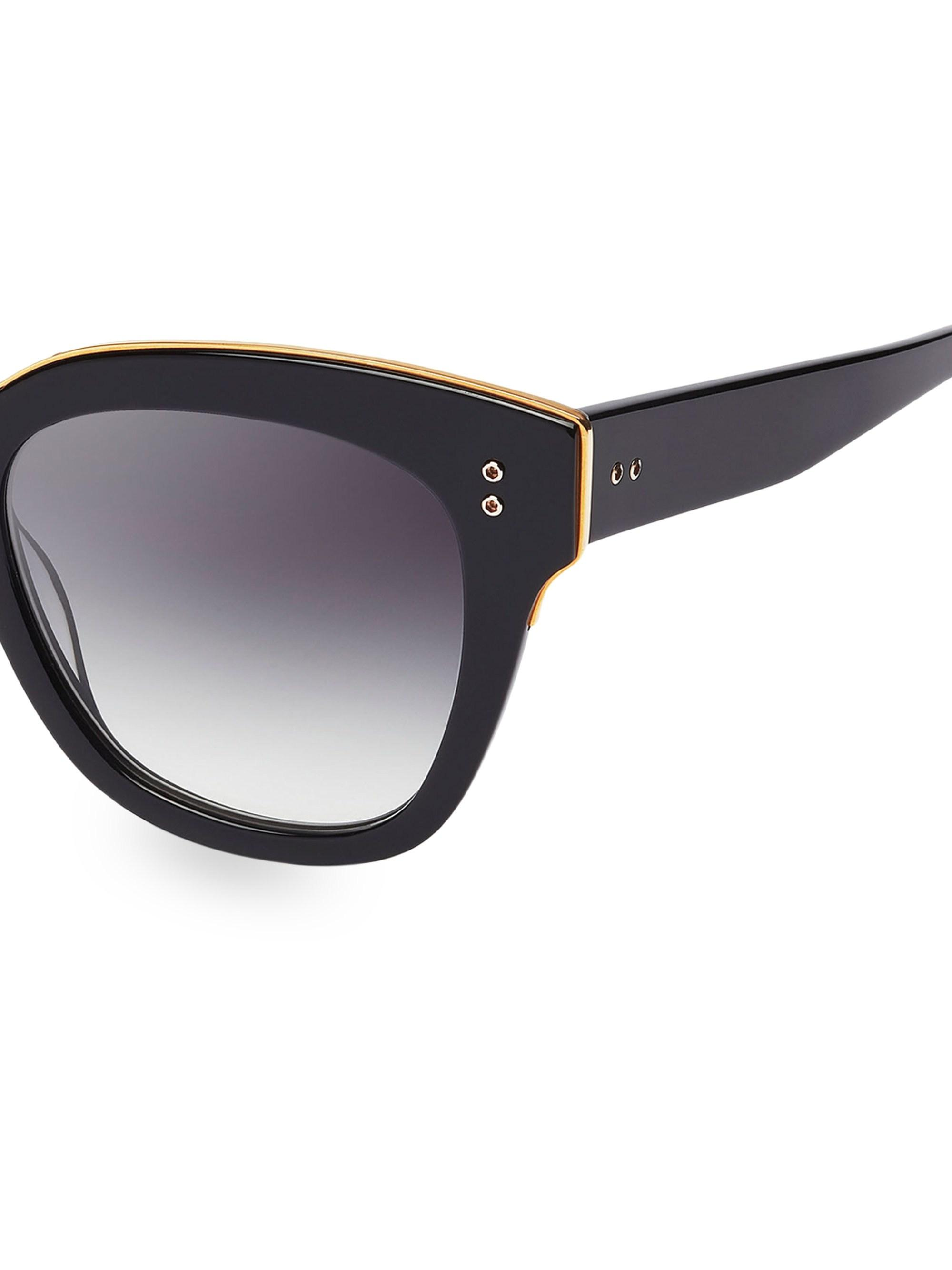 39a738b2236 Dita Eyewear - Black Day Tripper 55mm Oversized Sunglasses - Lyst. View  fullscreen