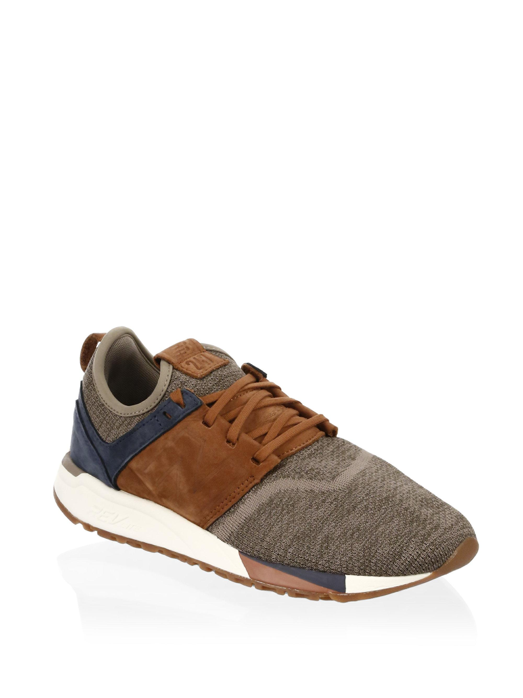 New Balance Leather & Knit Sneakers j33LXa