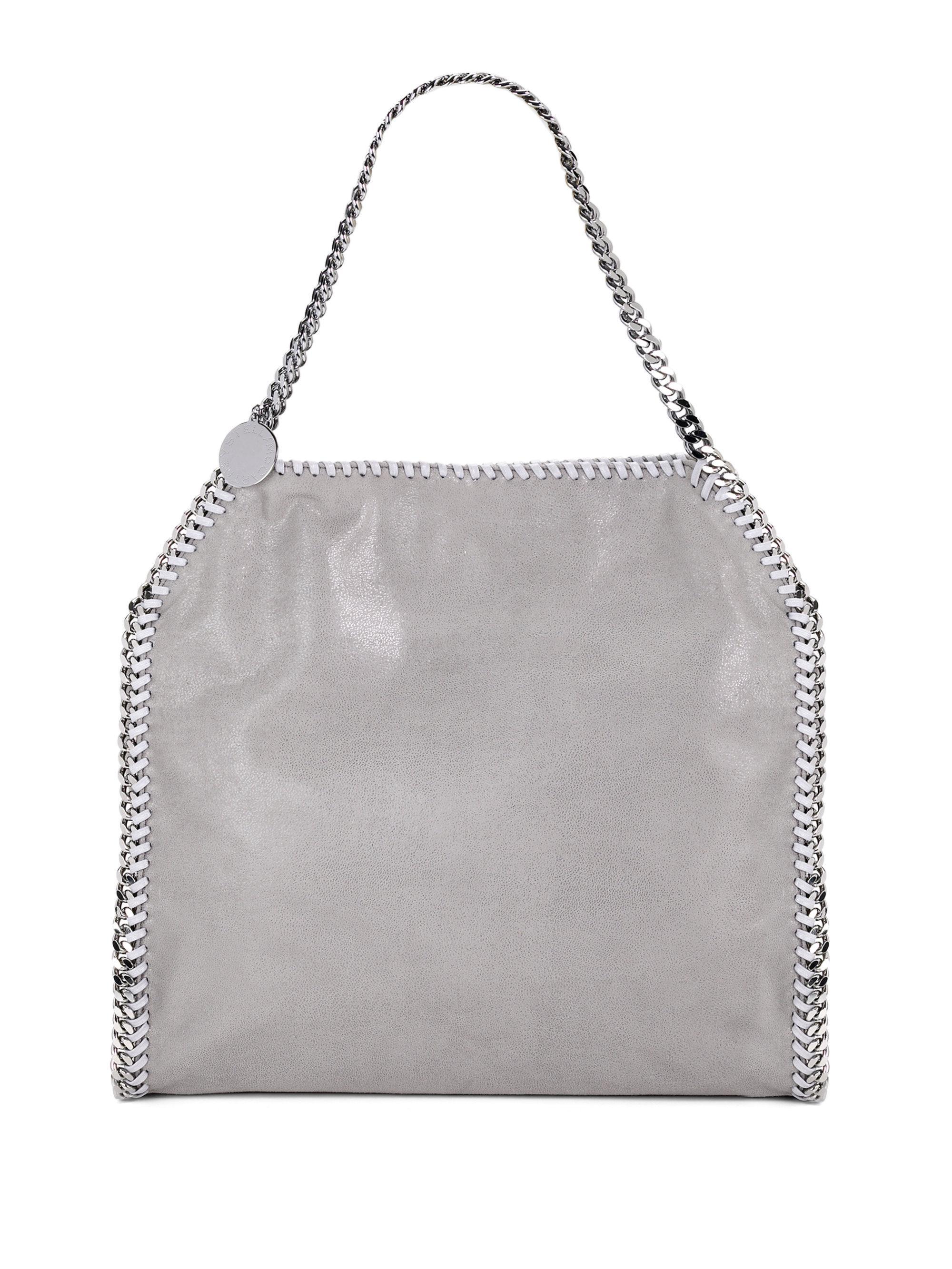 Stella Mccartney Falabella Baby Bella Shoulder Bag in Gray - Lyst 176fb1e26fcaf