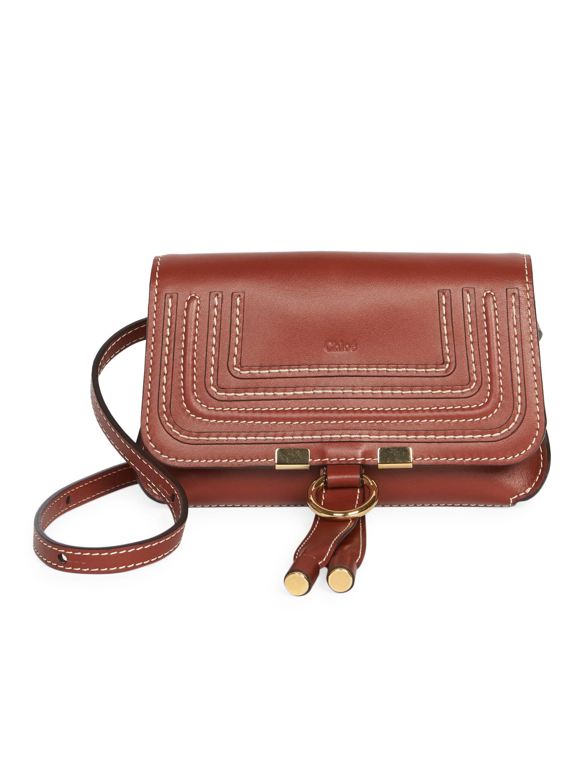 8d8a17d74359c1 Chloé Marcie Leather Belt Bag in Brown - Lyst