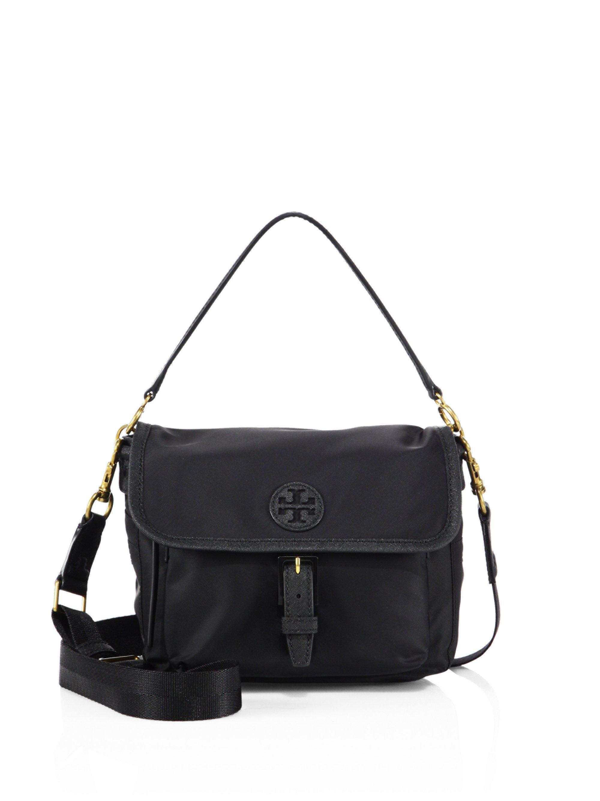 03475b8c8665d Lyst - Tory Burch Scout Nylon Crossbody Bag in Black