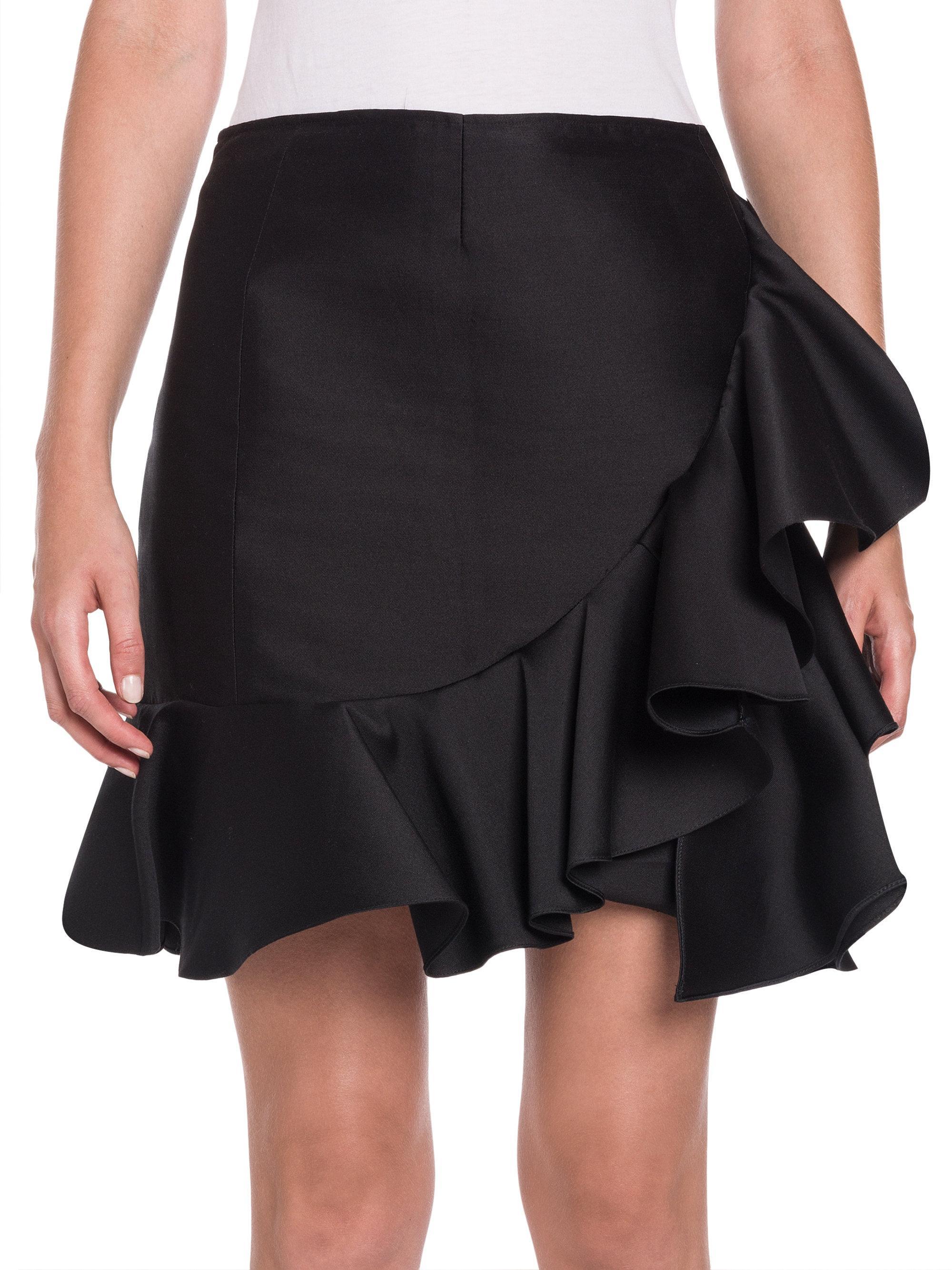 ruffled mini skirt - Black Stella McCartney Cheap Low Shipping Fee Enjoy Sale Online PNqVu70eR