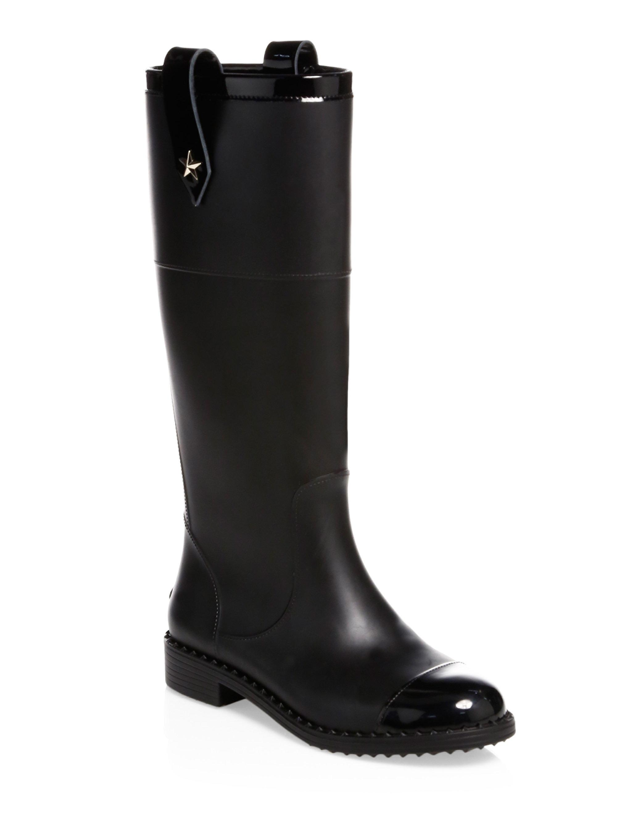 Jimmy choo Edith Knee-High Rubber Rainboots