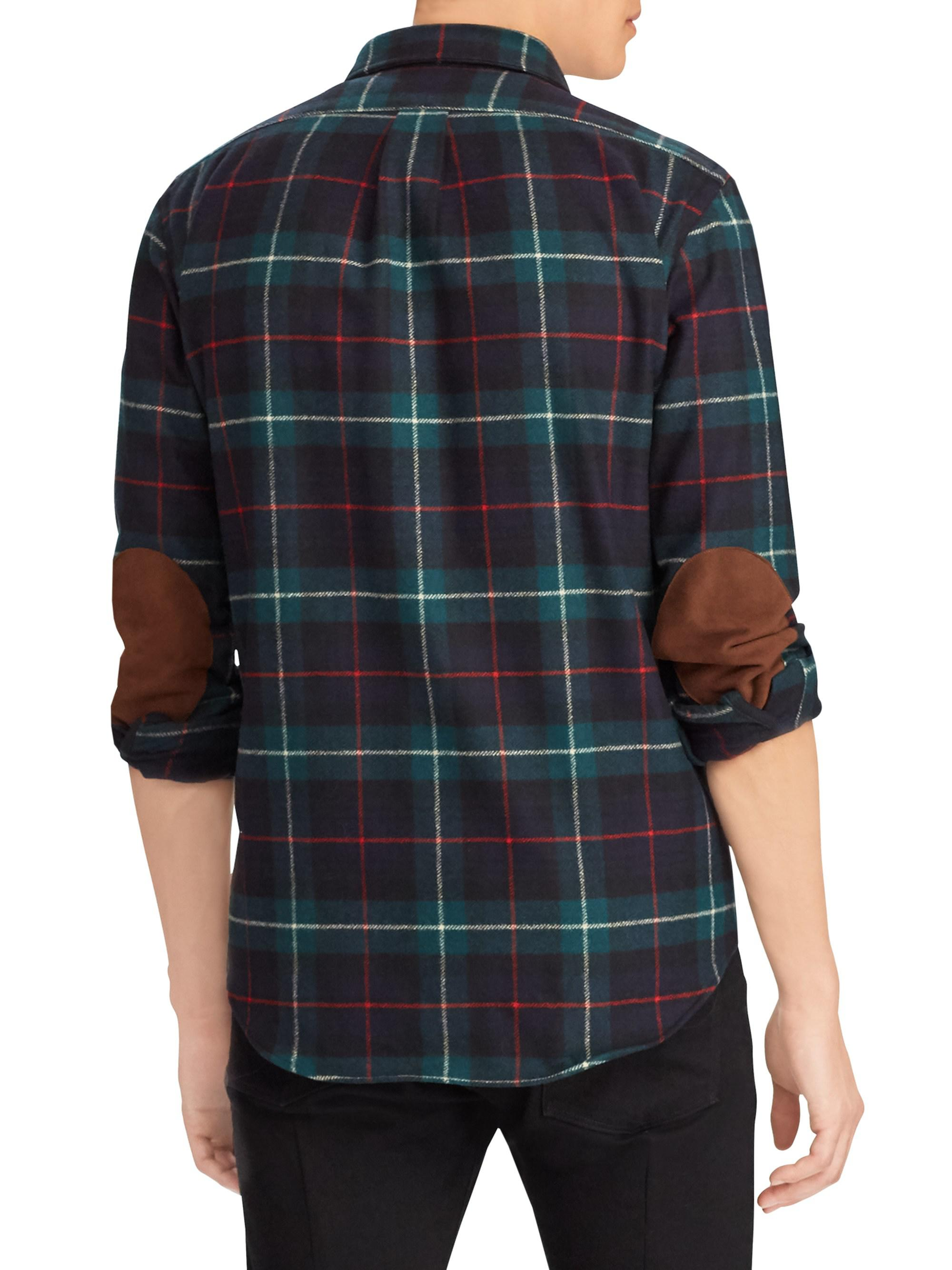 1f31f54bf7b4 ... coupon code for polo ralph lauren blue wool plaid sport shirt for men  lyst. view