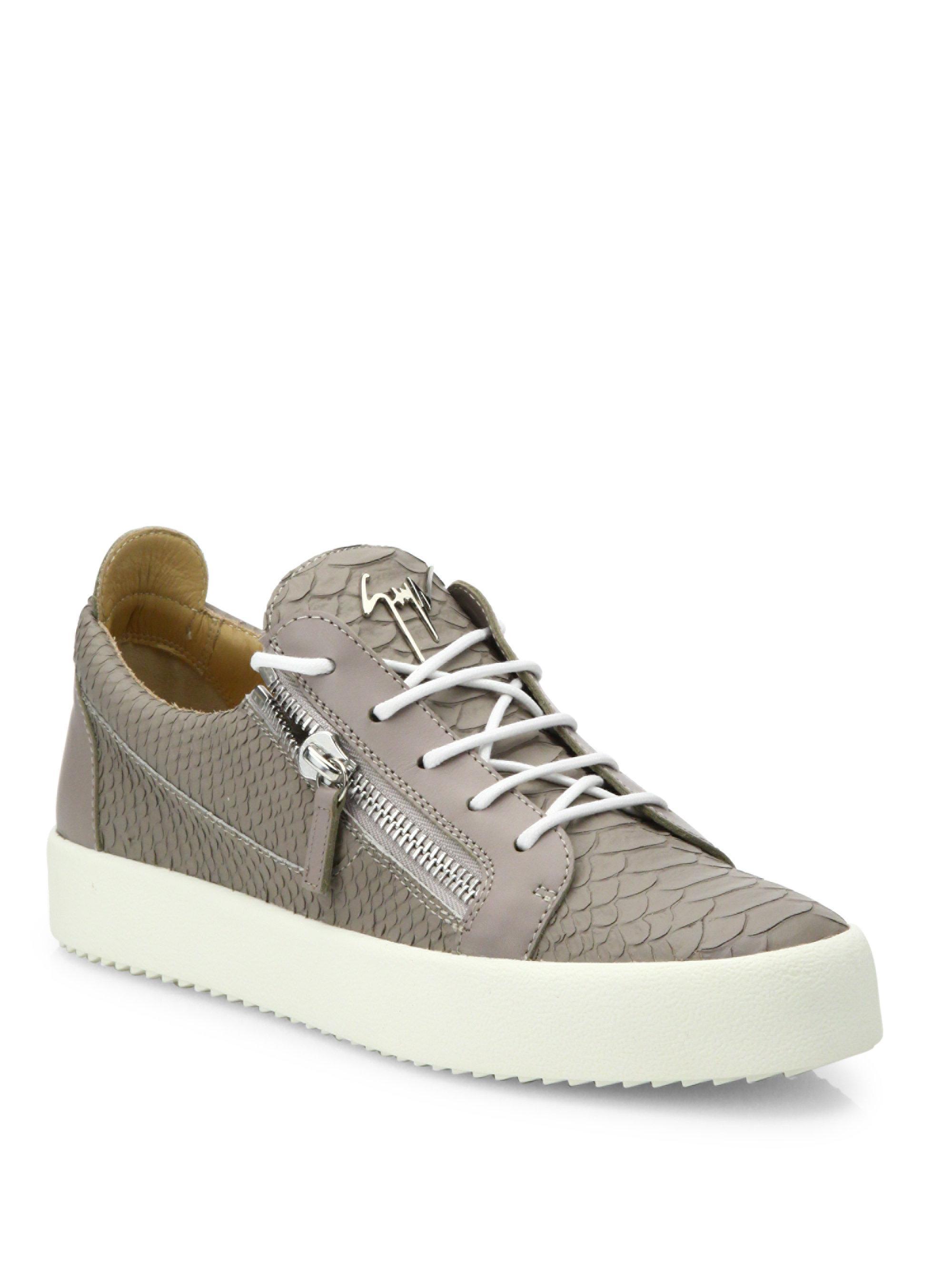 Giuseppe Zanotti Embossed Leather Low-Top Sneakers NtGpqK1VxB