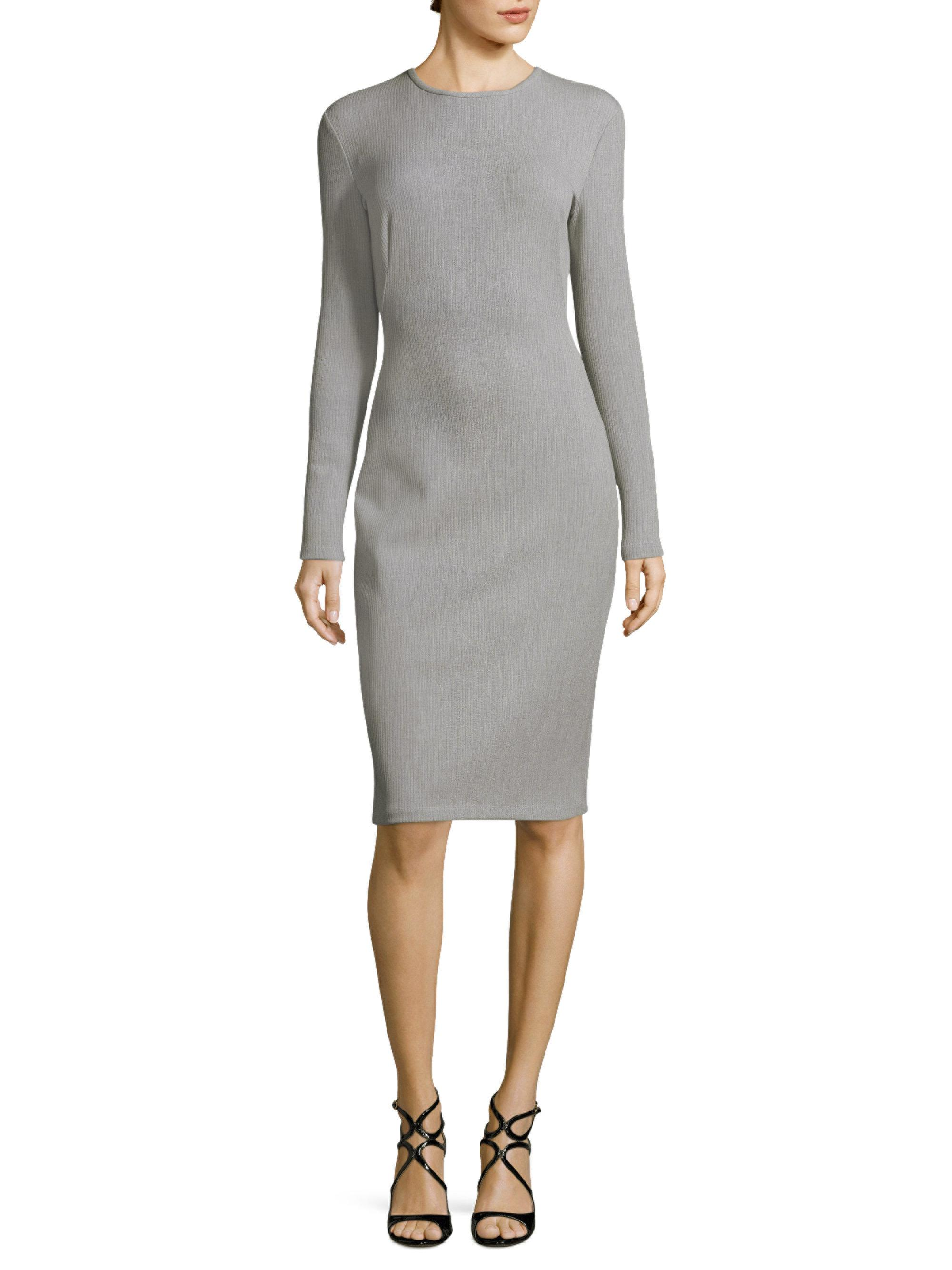 986d80e5 Black Halo Desoto Textured Sheath Dress in Gray - Lyst