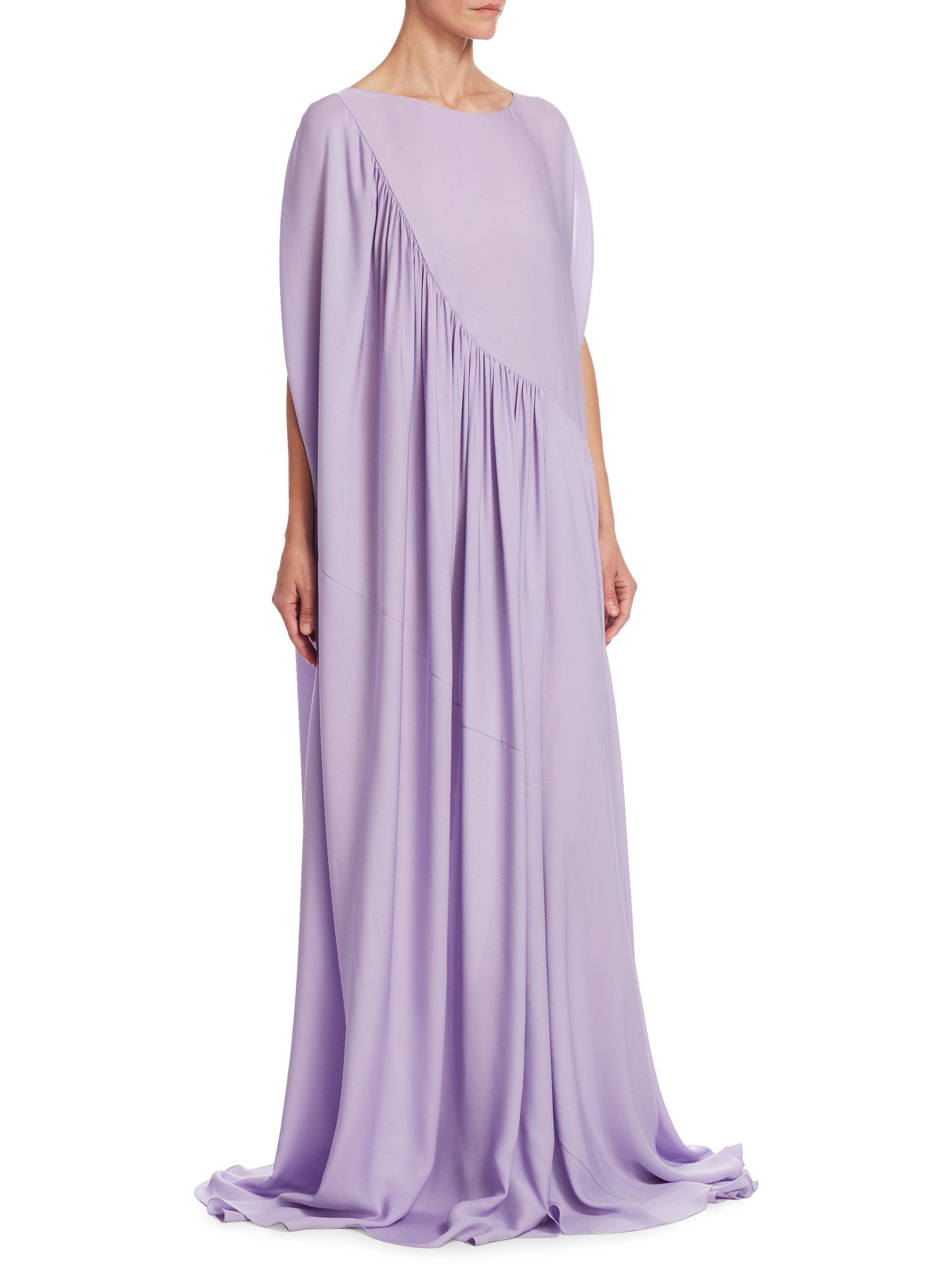 Lyst - The Row Medea Silk Ruffle Gown in Purple