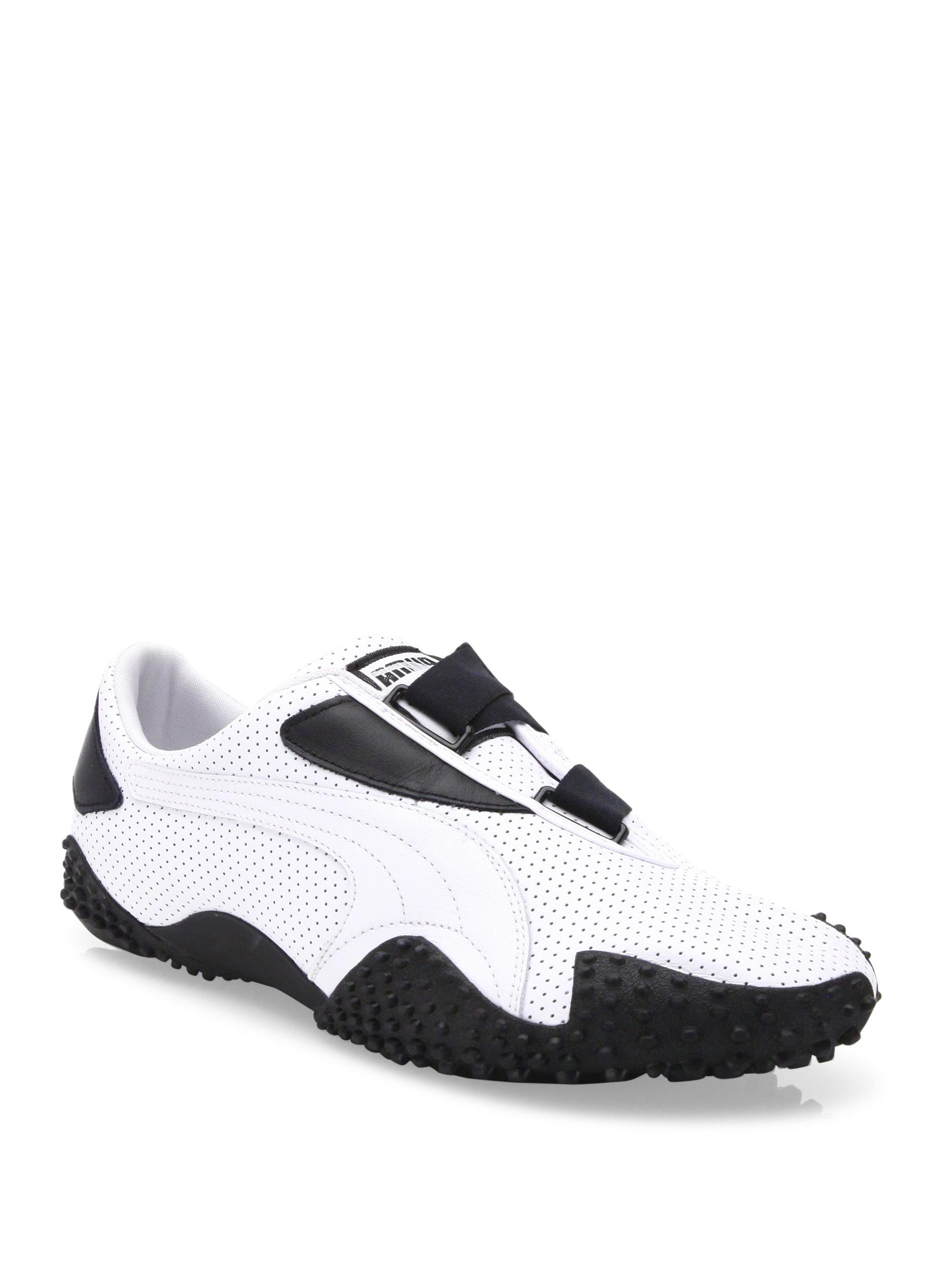 Lyst - PUMA Mostro Perforated Leather Sneakers in White for Men c0069ebc7