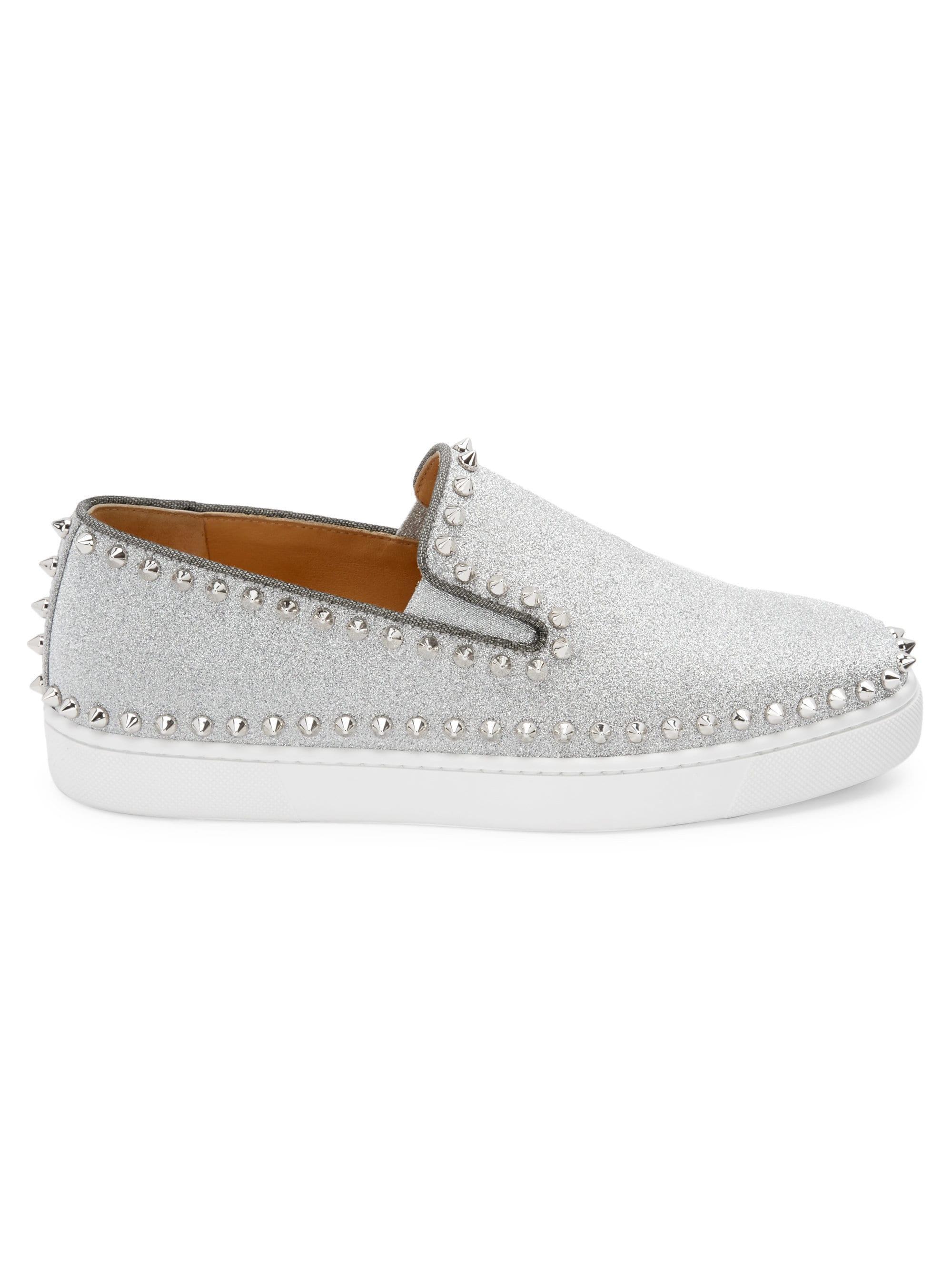 e5290d0541ce Christian Louboutin. Women s Metallic Pik Glitter Boat Shoes.  995 From Saks  Fifth Avenue