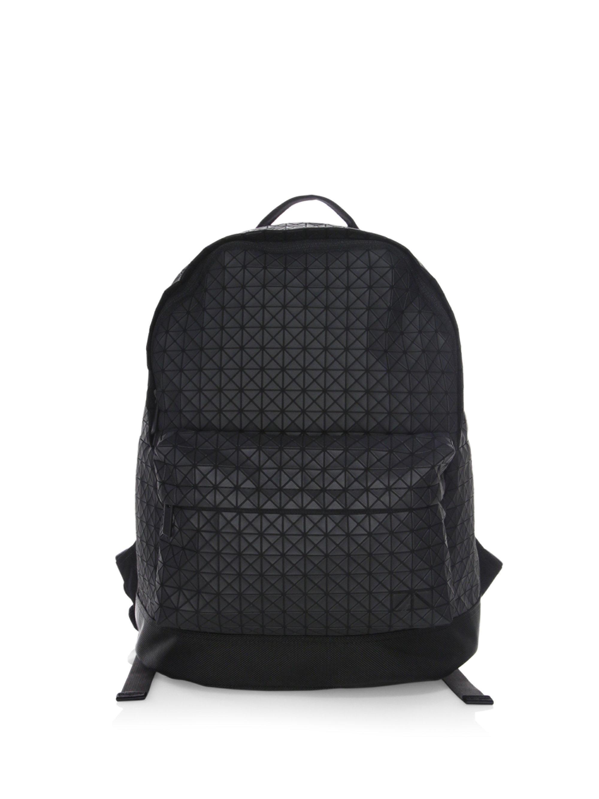 159549ef624 ... Bao Bao Issey Miyake. Mens Black Geometric Daypack Backpack sale  retailer e182d 92668 ...