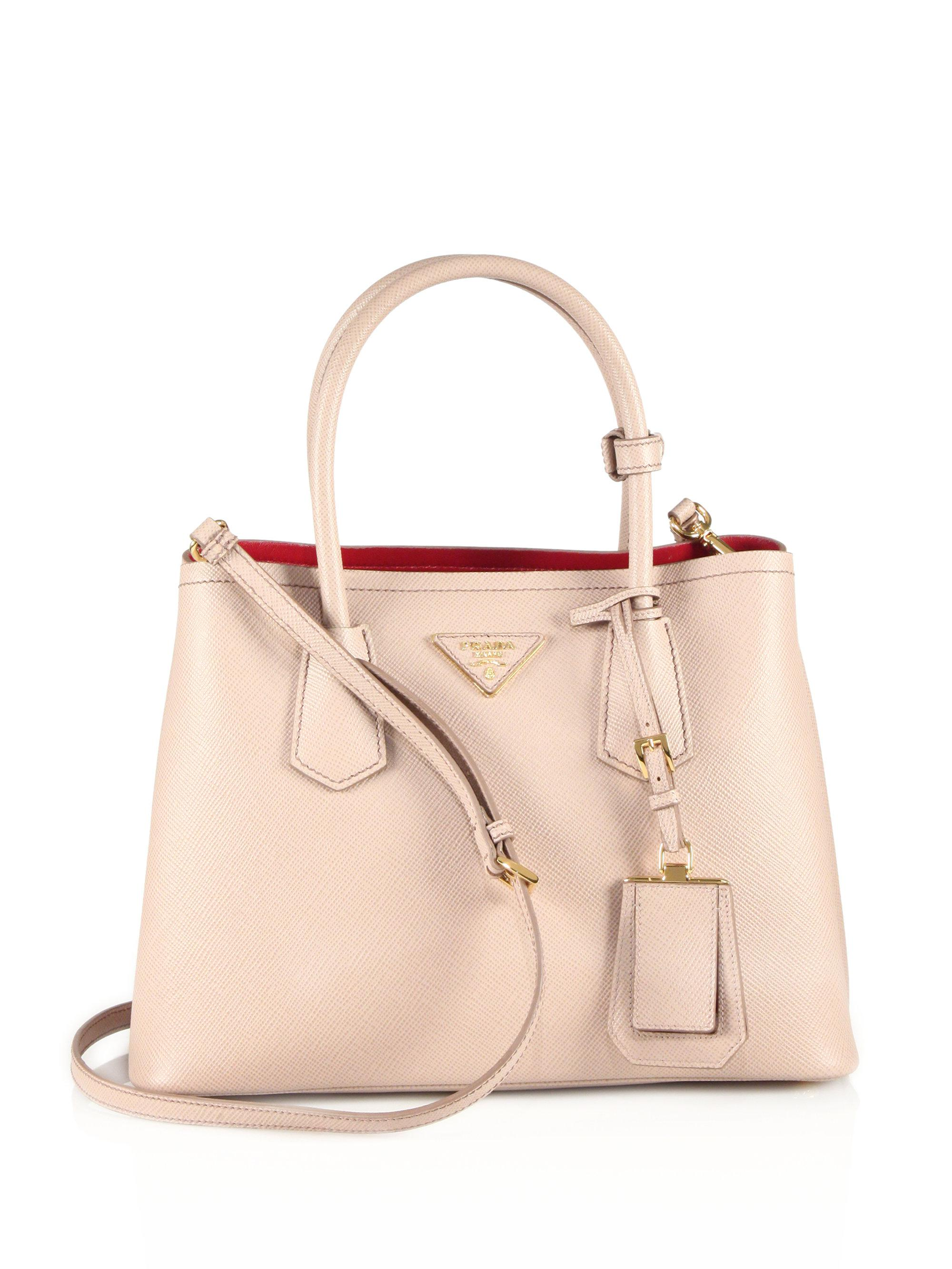 9980e0b4da6d where to buy pradadoublebagsydneysfashiondiary 31f0c f0fb6  where to buy  lyst prada saffiano cuir small double bag in natural 88a85 f7720