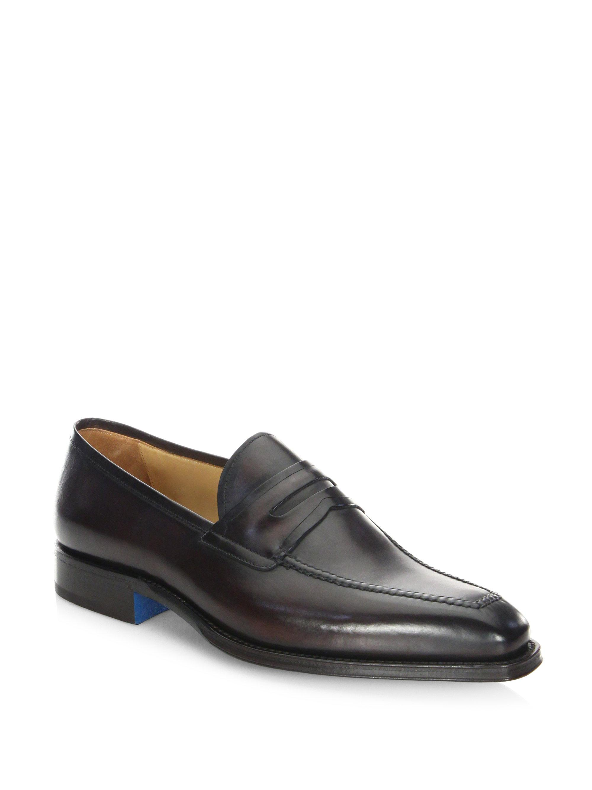 SUTOR MANTELLASSI Olimpo Leather Penny Loafers tqrbEfLY