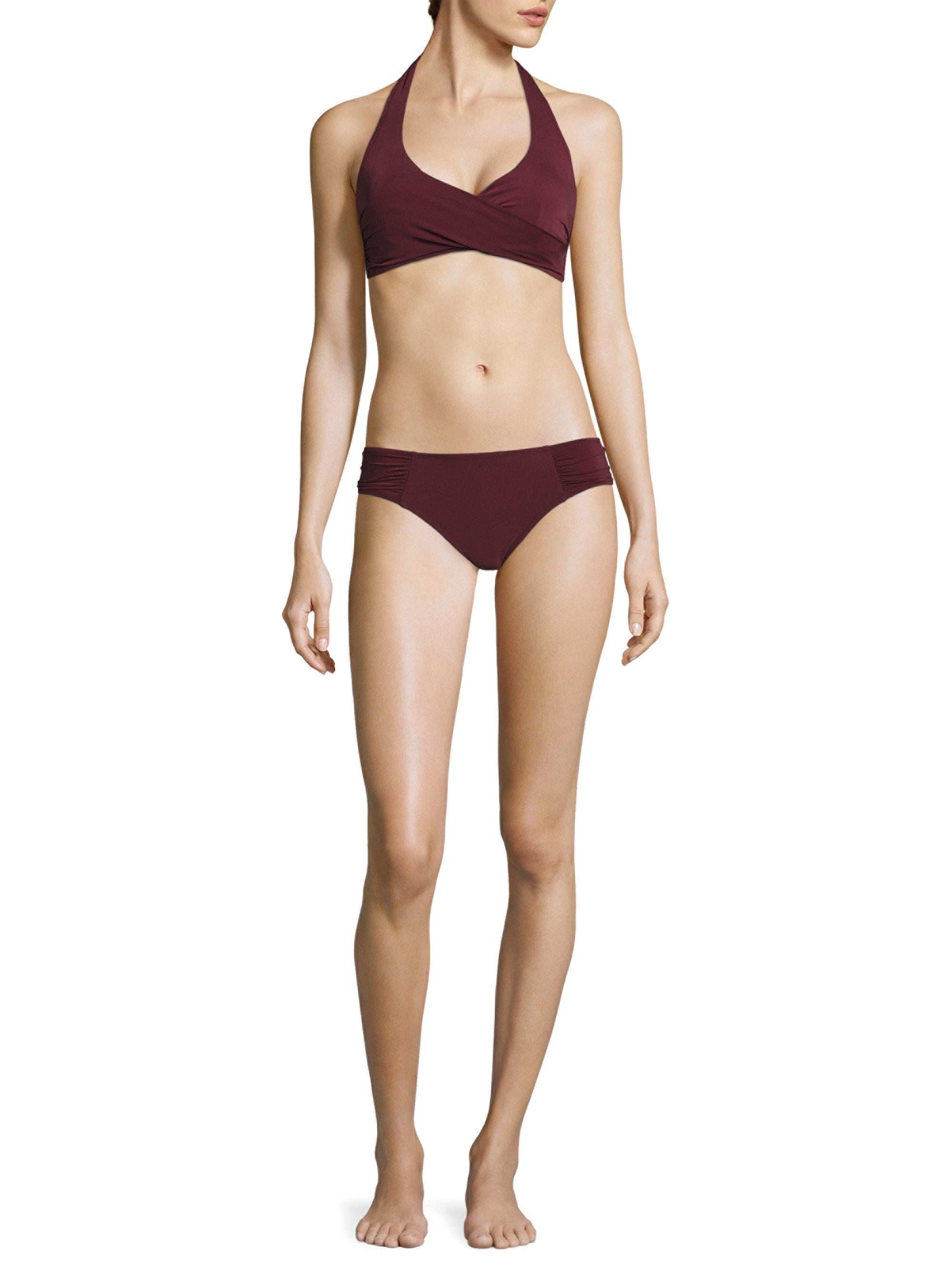 27671d13f6f12 Heidi Klein Body Wrap Bikini Top in Purple - Lyst