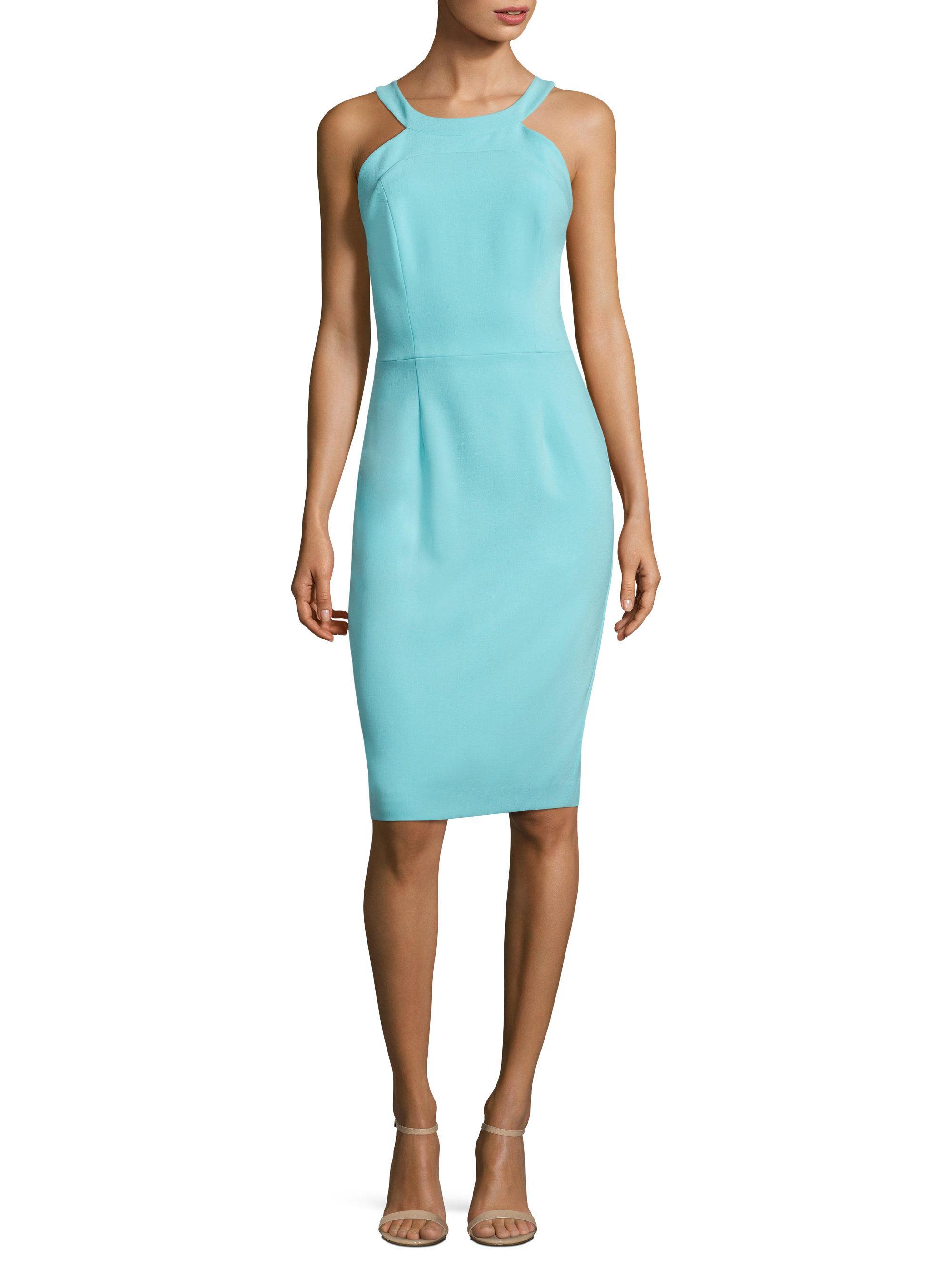 0e635add Black Halo Marcelle Sheath Dress in Blue - Lyst