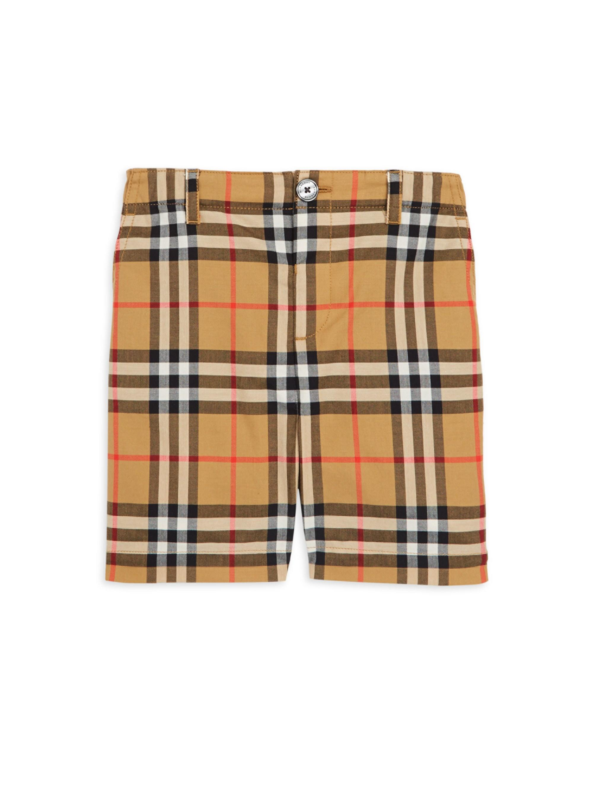232c56ad2ec74 Lyst - Burberry Baby Boy s   Little Boy s Sean Check Cotton Shorts ...