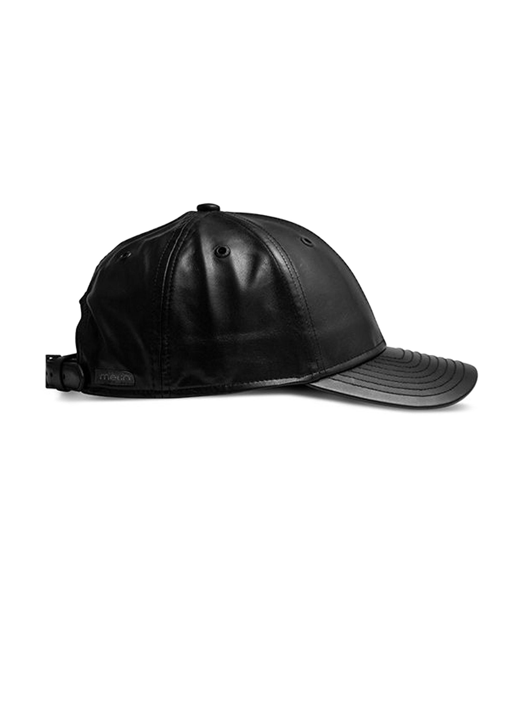 2169fe5fca4 ... france melin mens the voyage leather baseball hat black in black for  men 0fec9 9835e