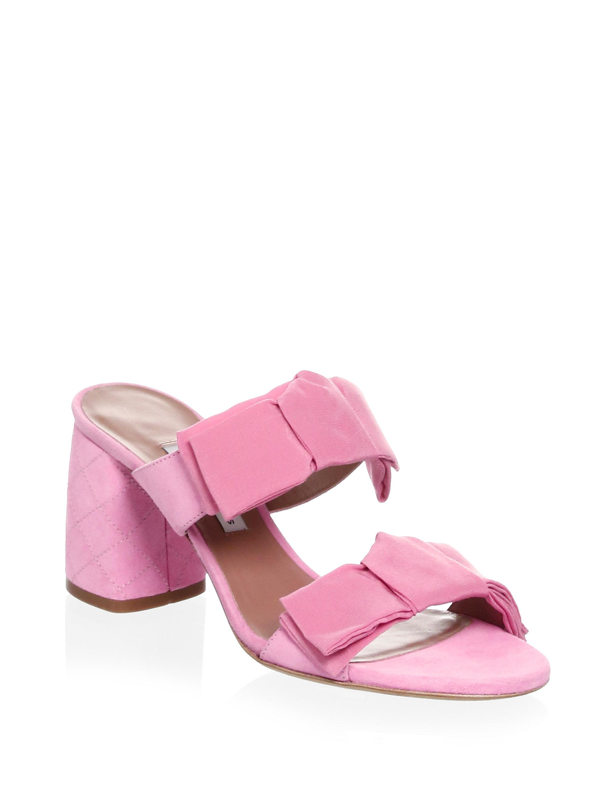 Tabitha Simmons Barbi Suede Slides