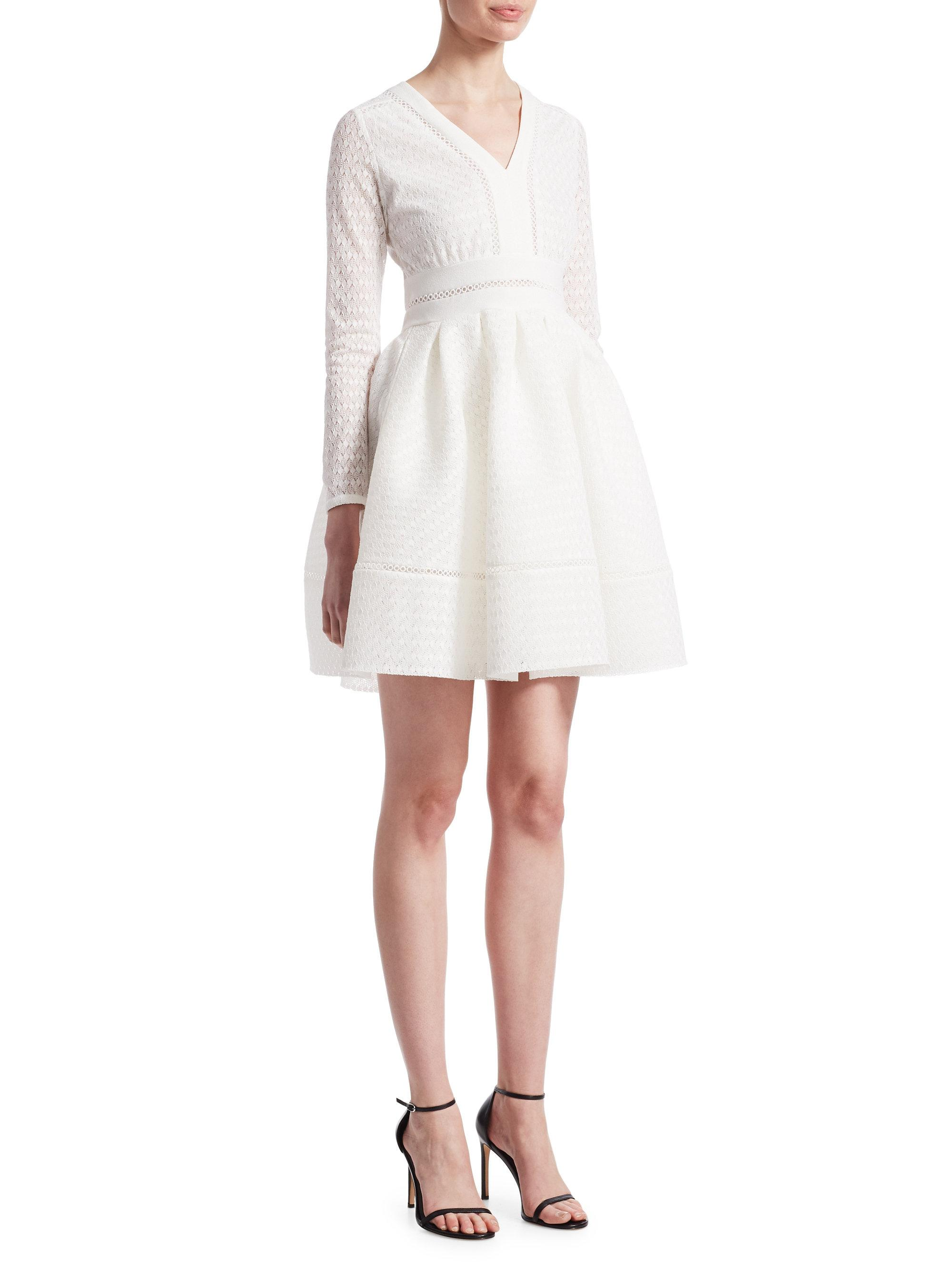 556196d10347 Maje Rossignol Woven Fit-&-flare Dress in White - Lyst
