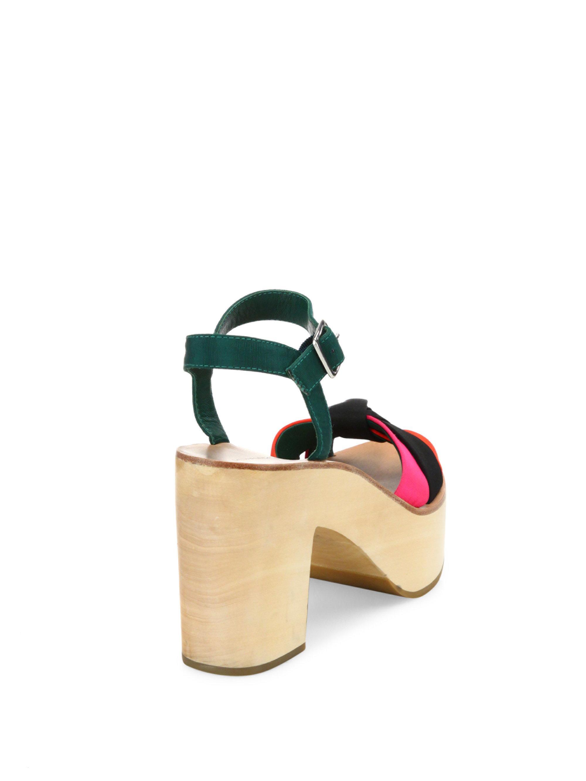 e3abdda46467 Lyst - Loeffler Randall Elsa Colorblock Platform Sandals