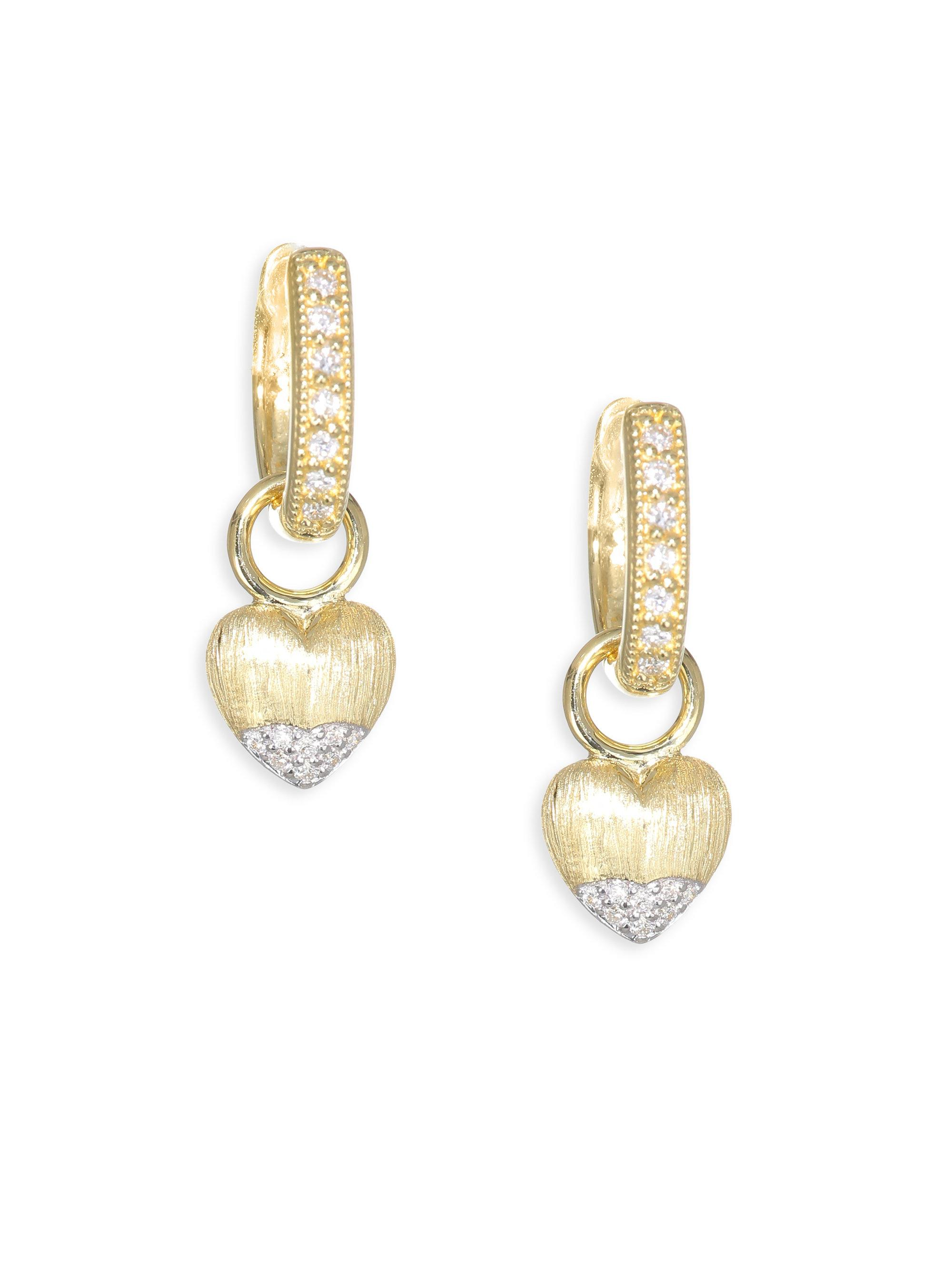Jude Frances Lisse Large Pearl & Diamond Earring Charms cDrIDcNGmu