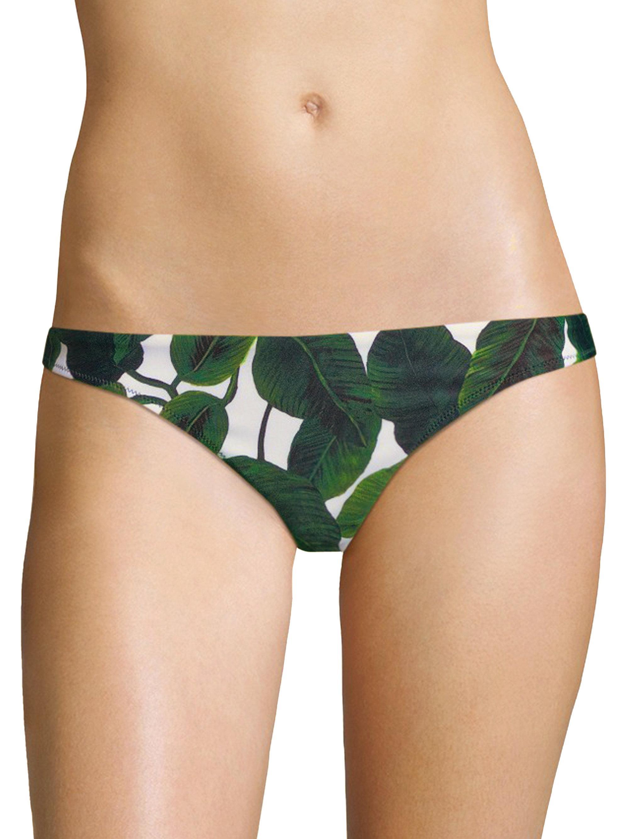 11b1120763 MILLY St Lucia Printed Bikini Bottom in Green - Lyst