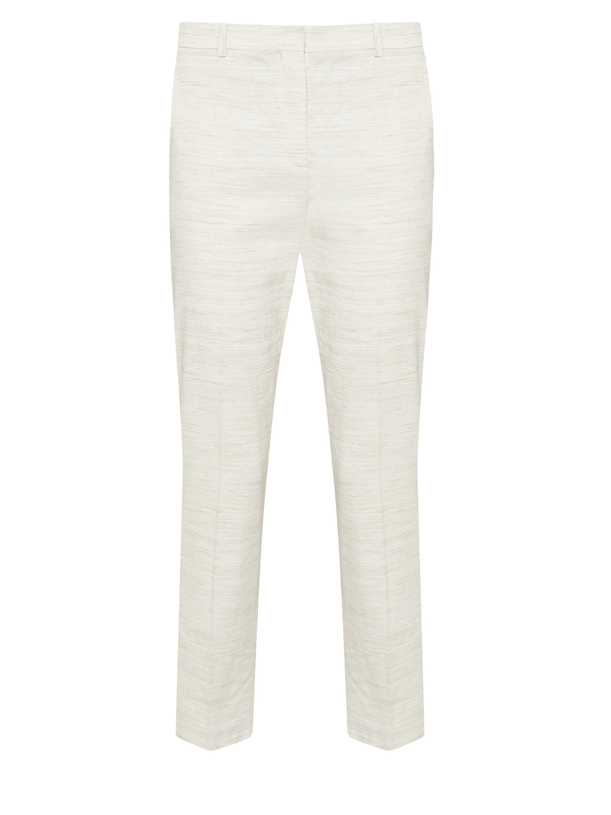bdf02a625b Theory Sharkskin Crunch Slim Crop Trousers in White - Lyst