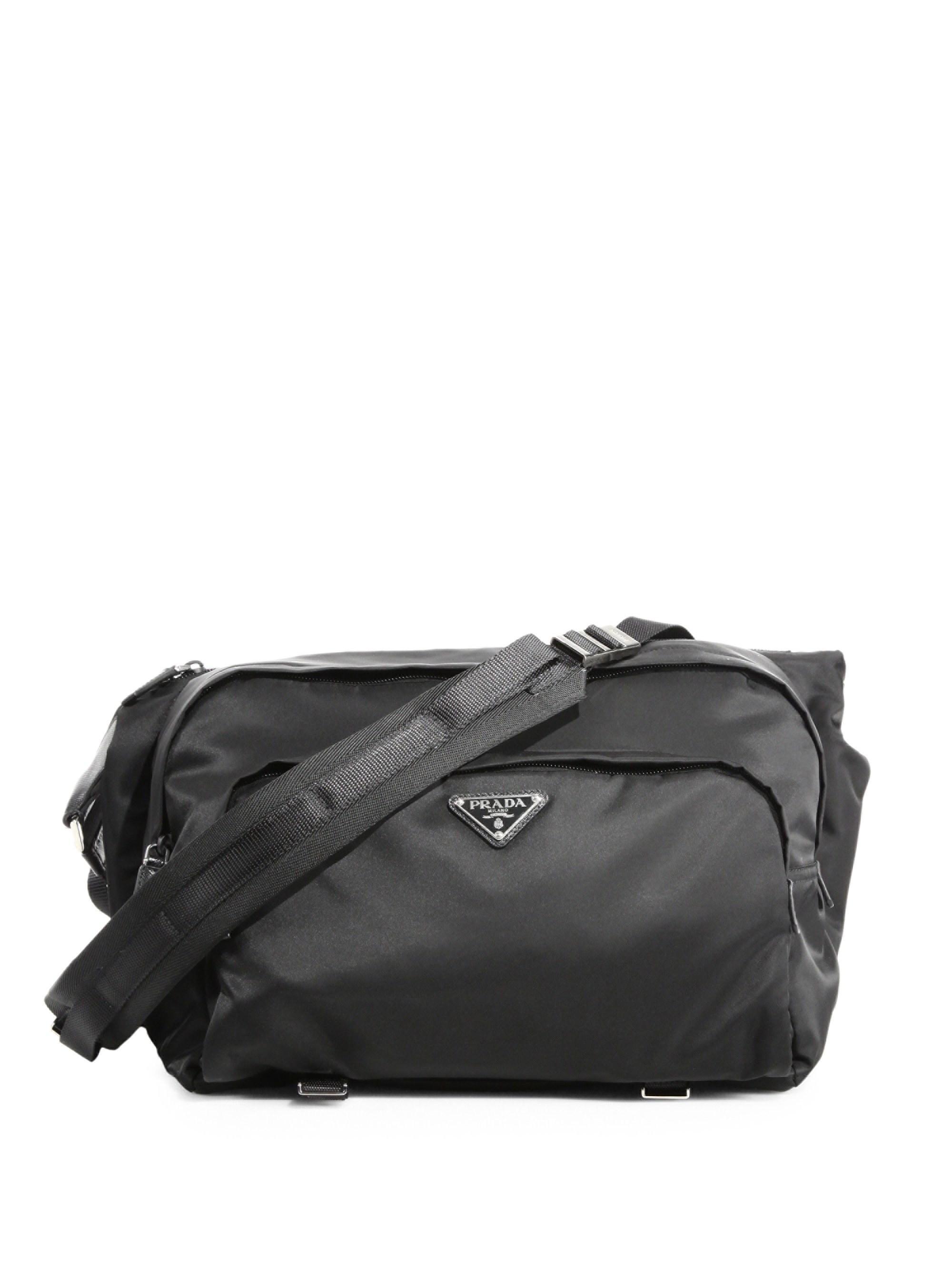 Prada - Men s Bandoliera Nylon Waist Pack - Black for Men - Lyst. View  fullscreen e9e70a04ff5e4