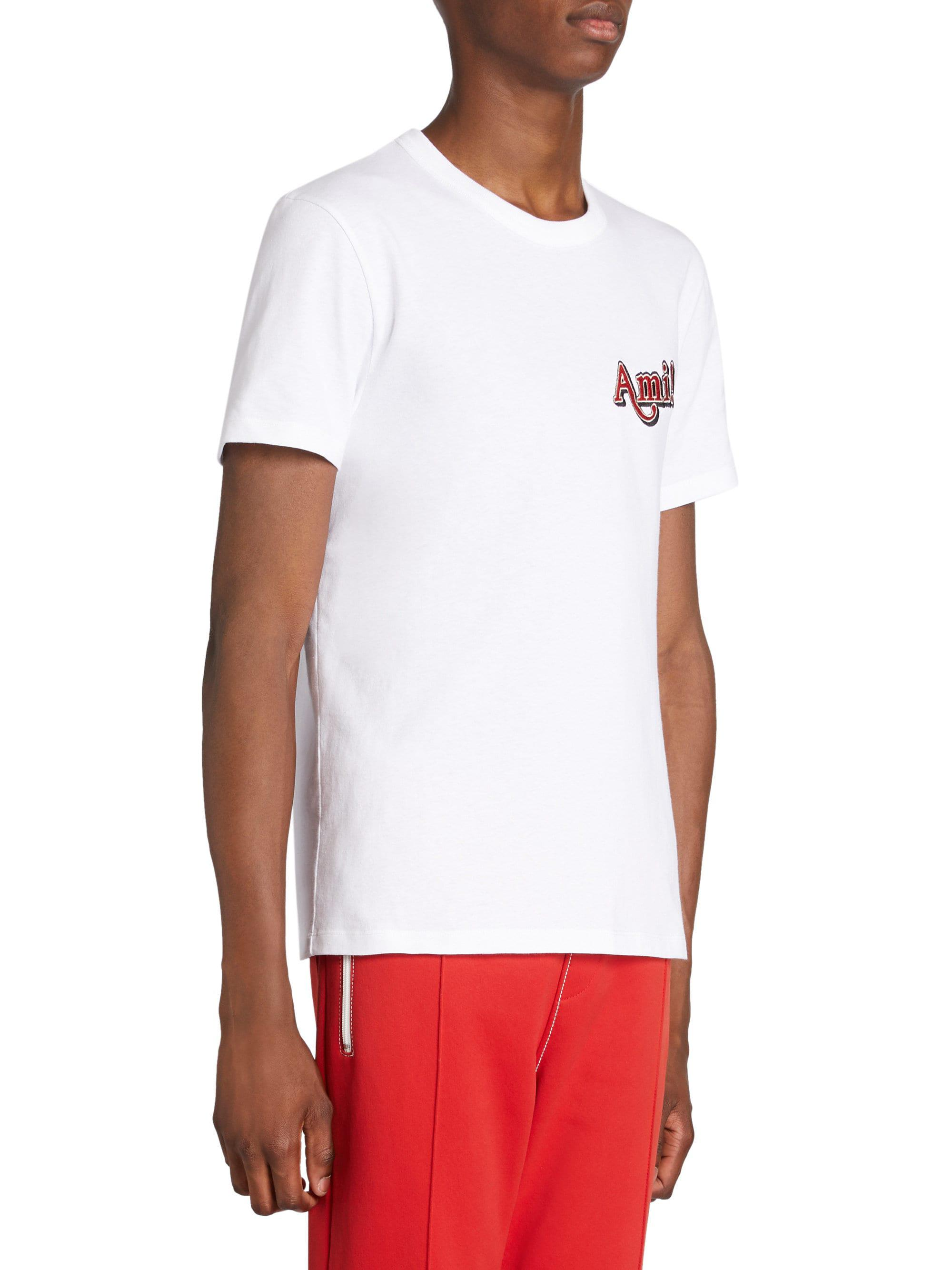 d7cf4a1a9085 Lyst - Ami Cotton Logo Tee in White for Men