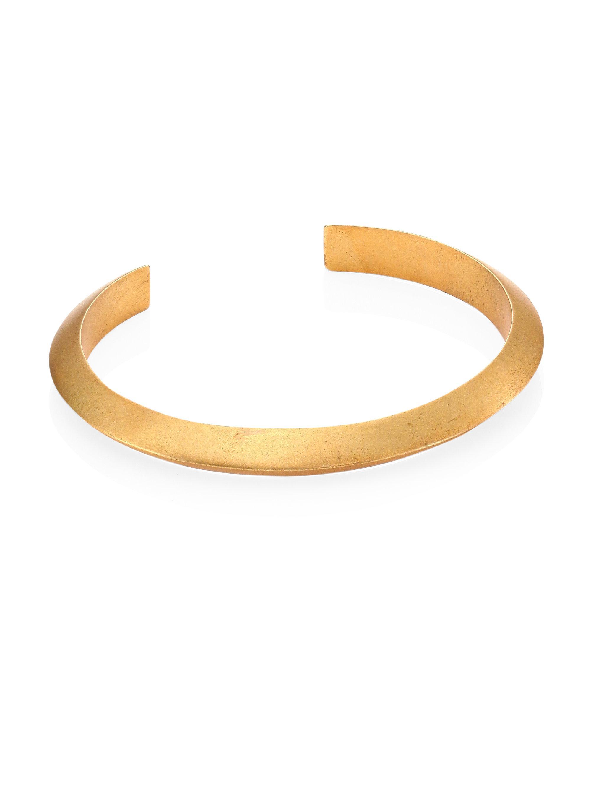 Miansai Singular Brushed-brass Cuff - Gold 58mXu