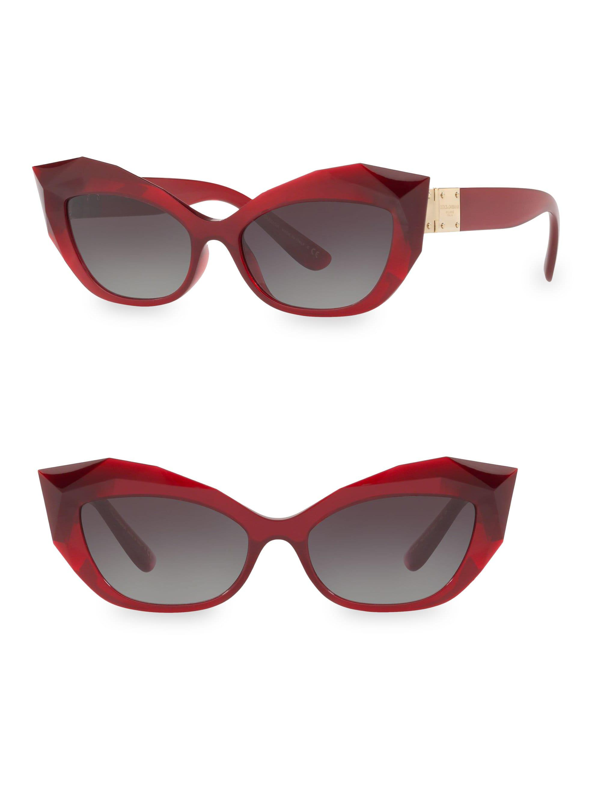 59a2fc7497e Dolce   Gabbana. Women s 54mm Cat Eye Faceted Sunglasses