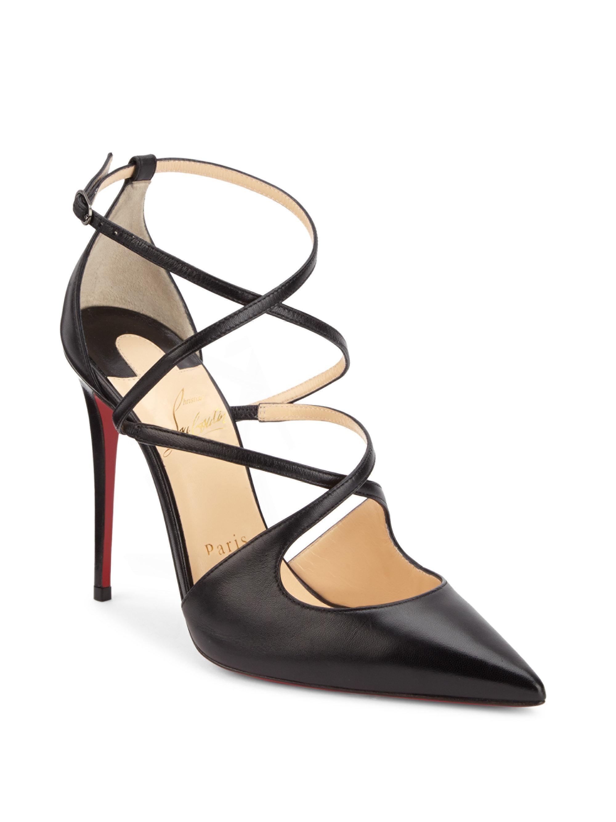 Christian Louboutin Crossfliketa 100 Leather Pumps WEW23
