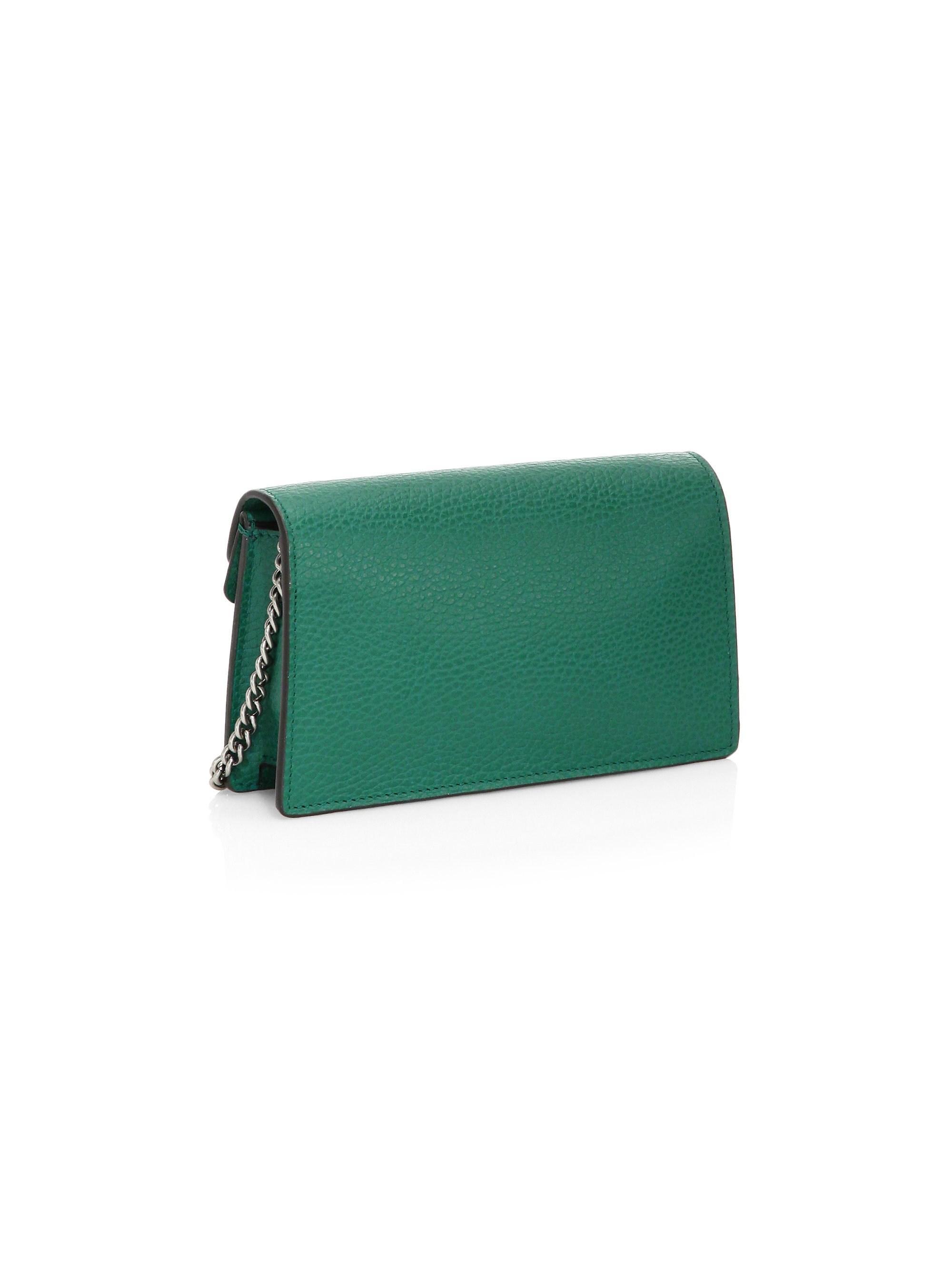 6faf23fd6613 Gucci Women's Dionysus Leather Super Mini Bag - Emerald in Green - Lyst
