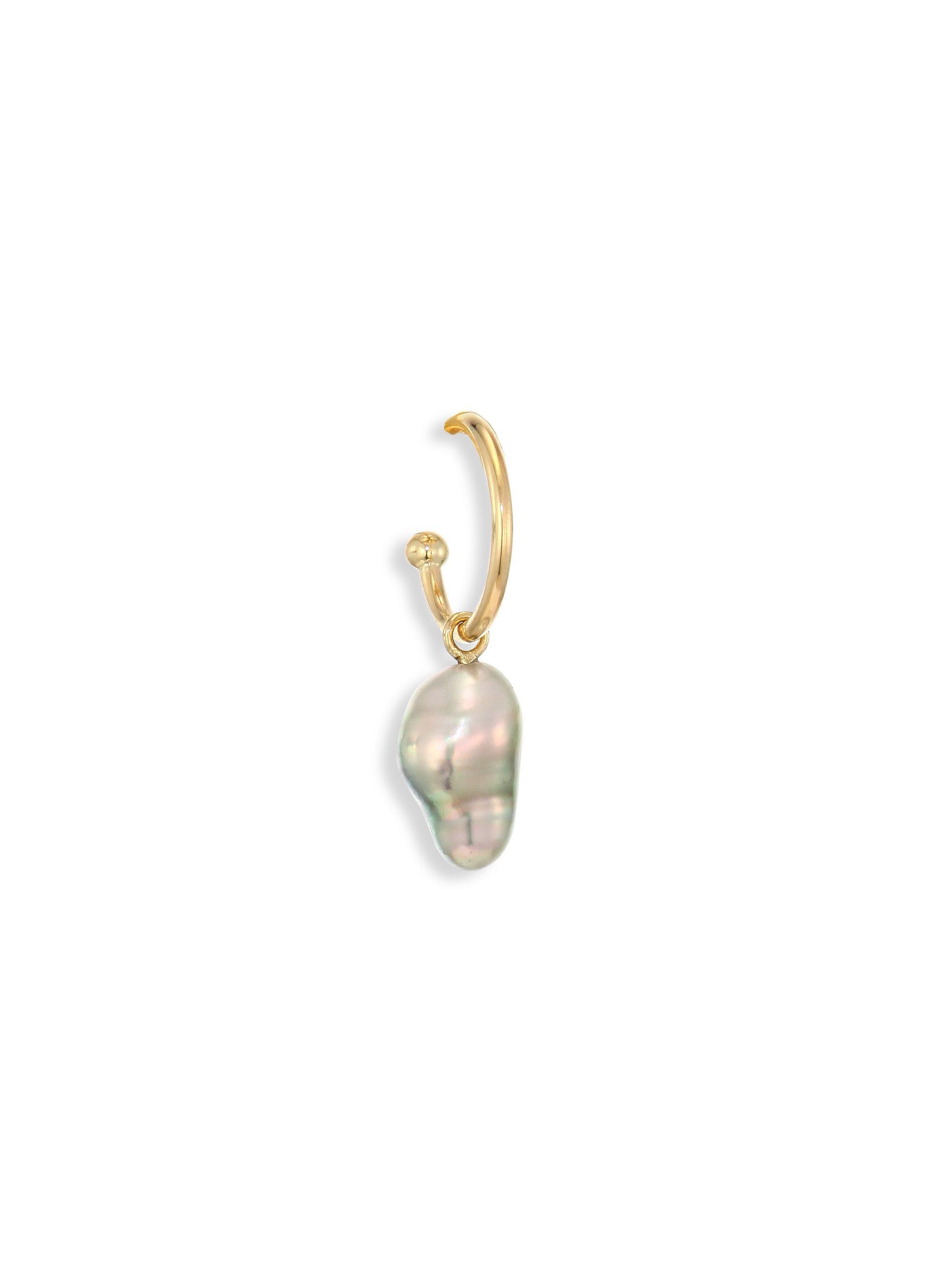 Mizuki 14k Gold Open-Hoop Pearl Earrings zPxlcyyV