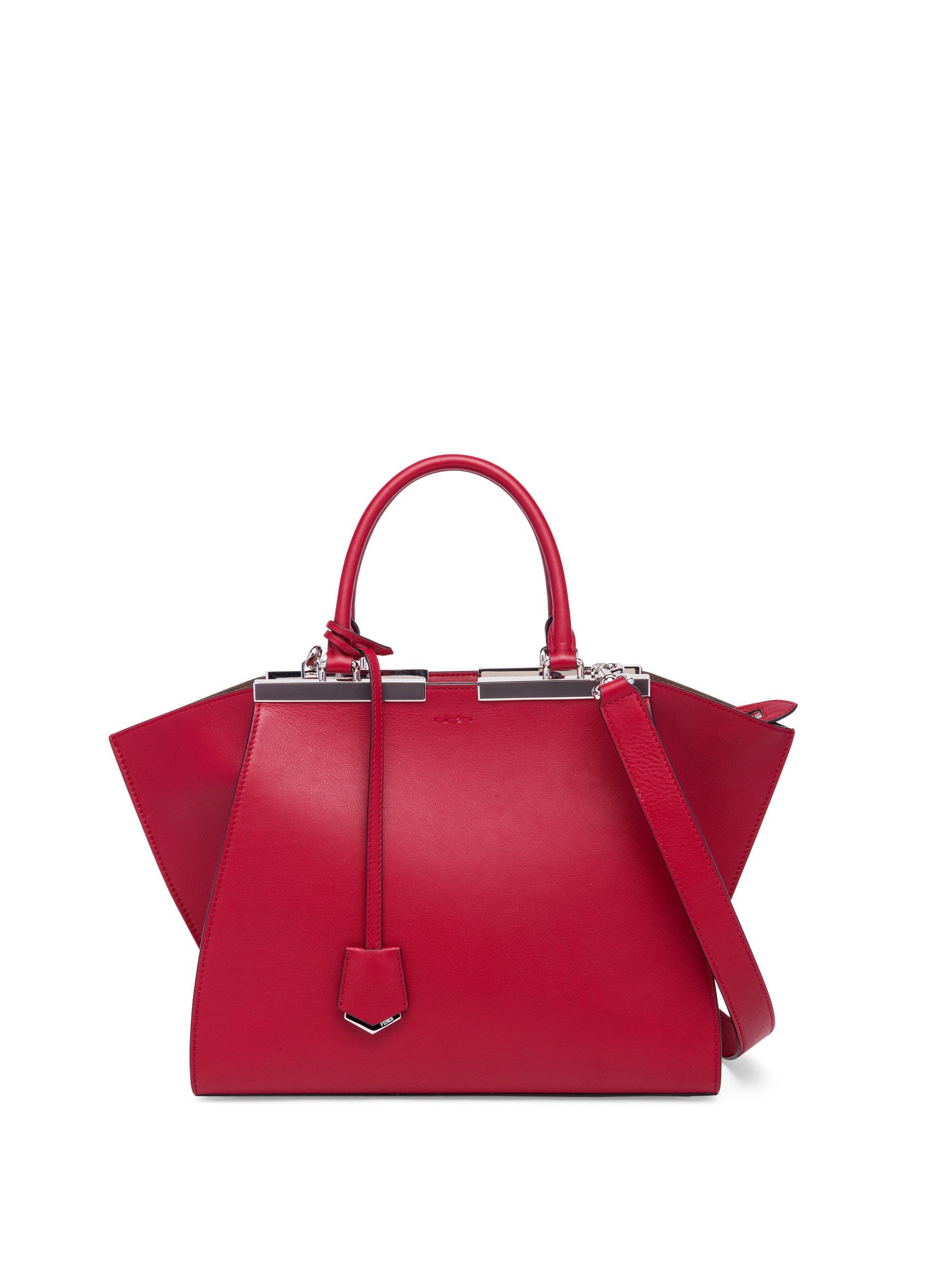 Lyst - Fendi 3jours Mini Leather Shopper in Pink 6598c28996d23