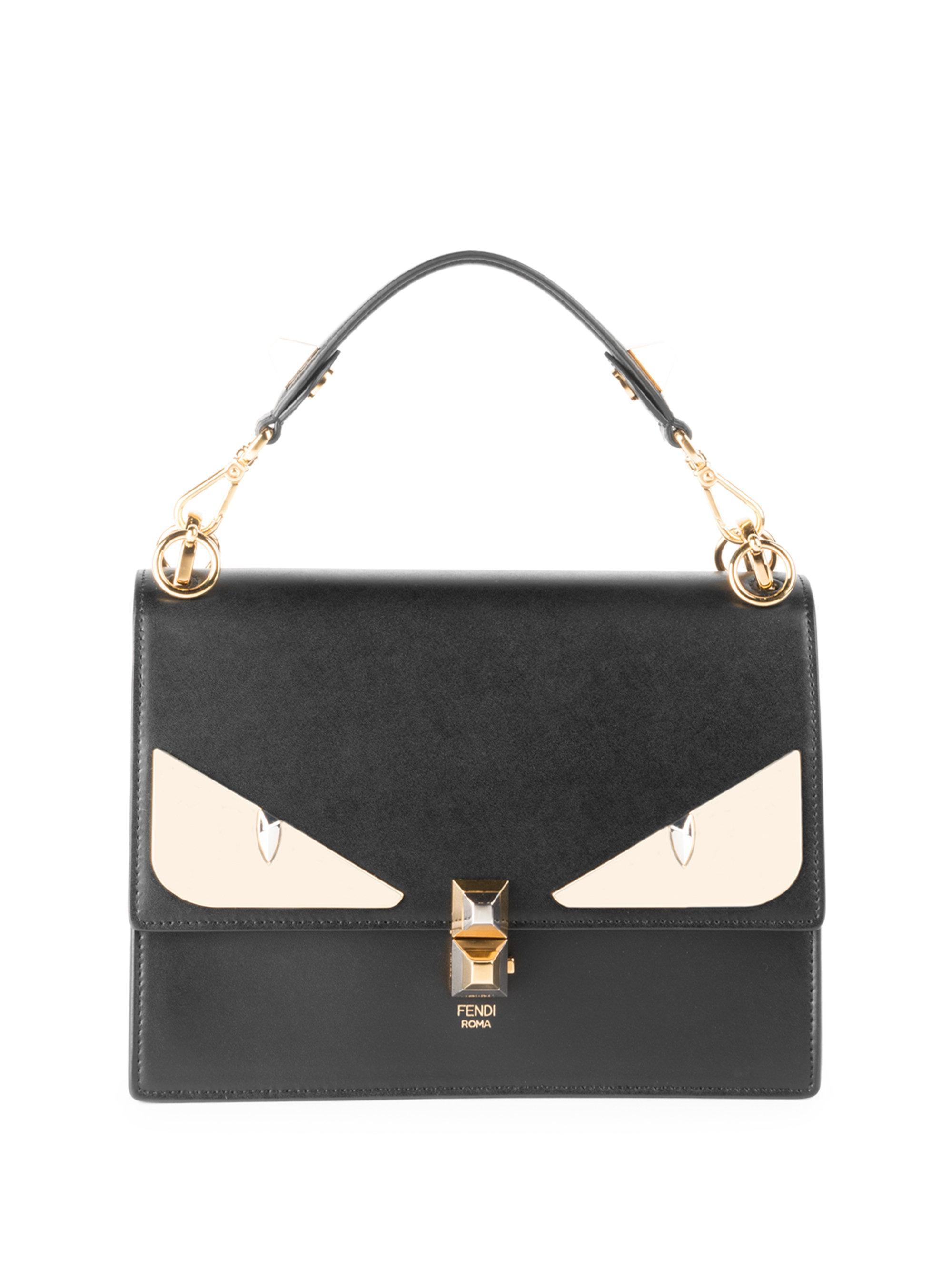 Fendi Kan I Monster Eye Black Shoulder Bag in Black - Save 25% - Lyst 42a2aac19b6a6