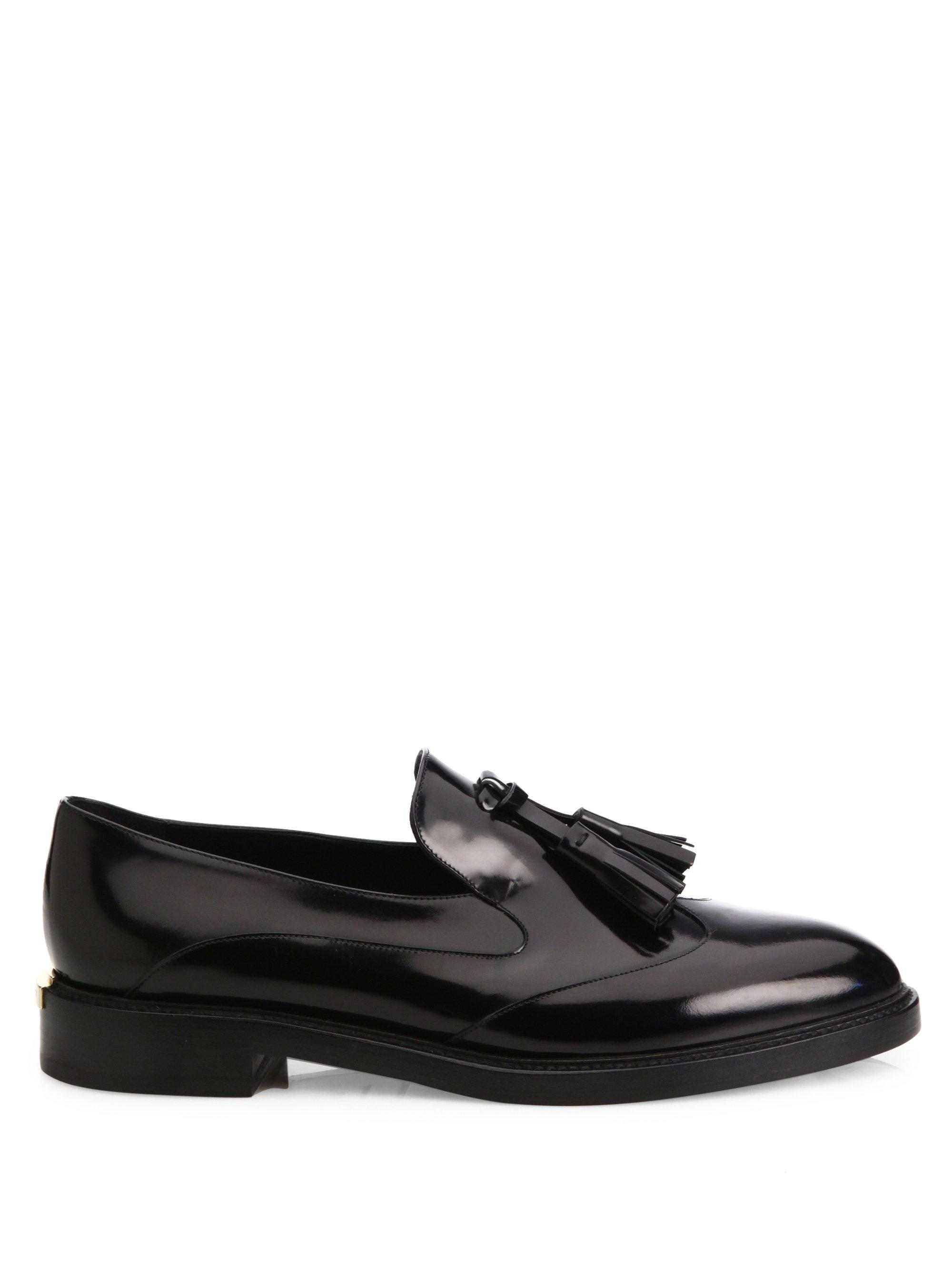 Burberry - Black Halsmoor Patent Leather Tassel Loafers - Lyst. View  fullscreen