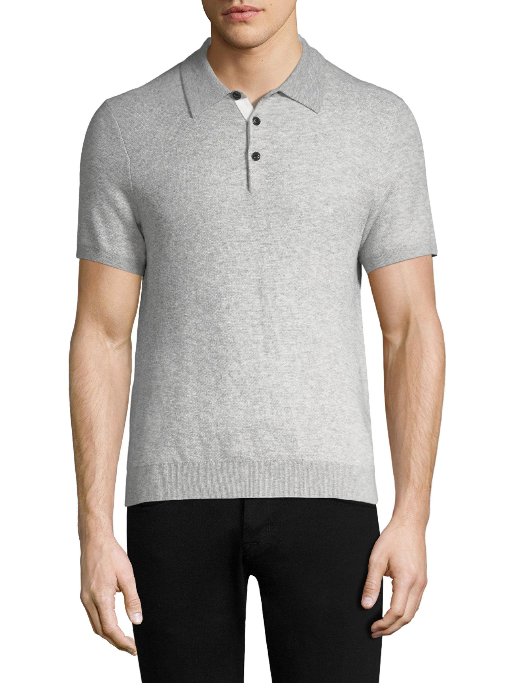 Lyst - Rag   Bone Tripp Polo in Gray for Men 199937b491a