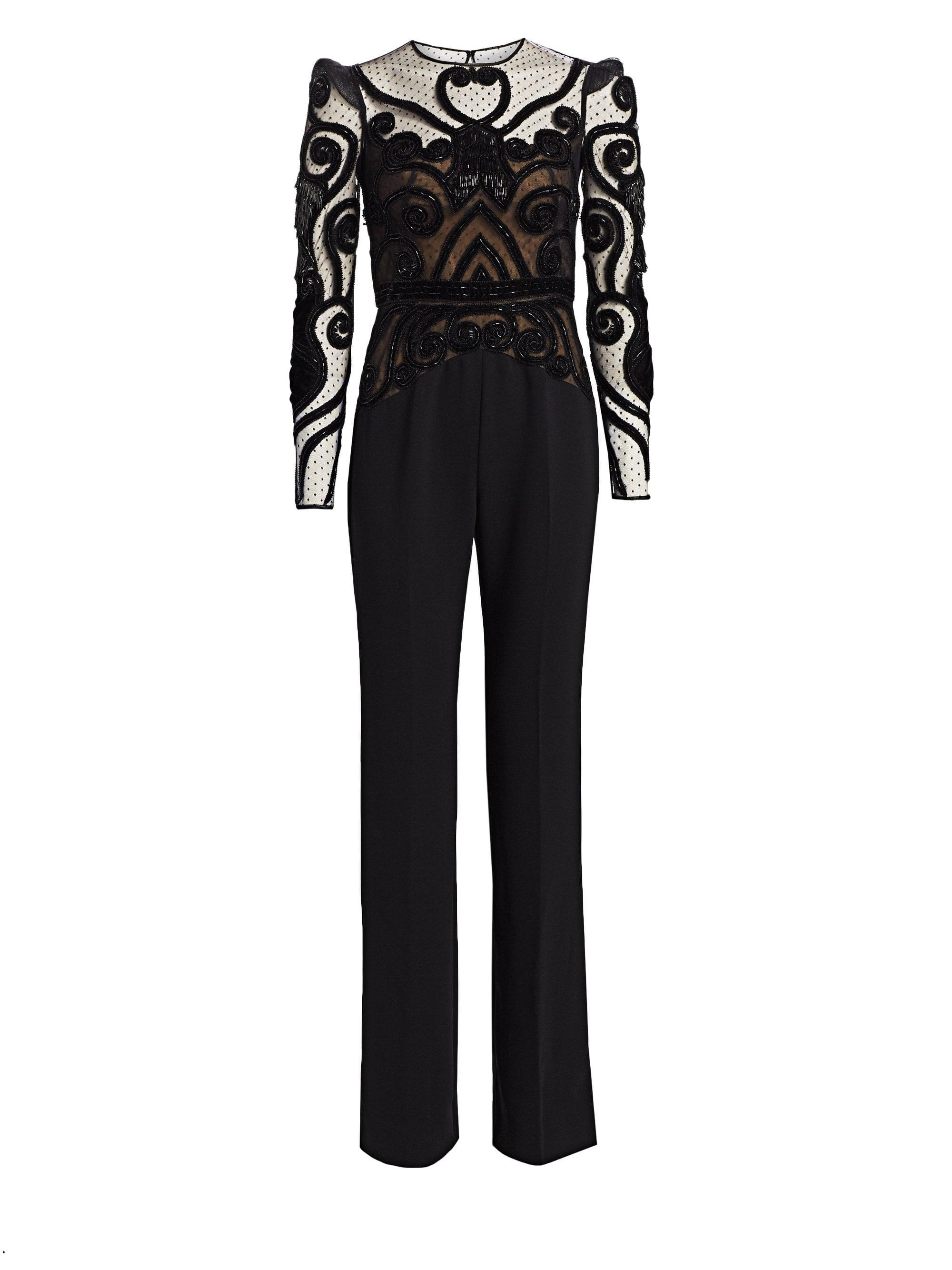 9fa984ca604 Zuhair Murad. Women s Bead Embroidery Jumpsuit - Black - Size 34 (0).  £4