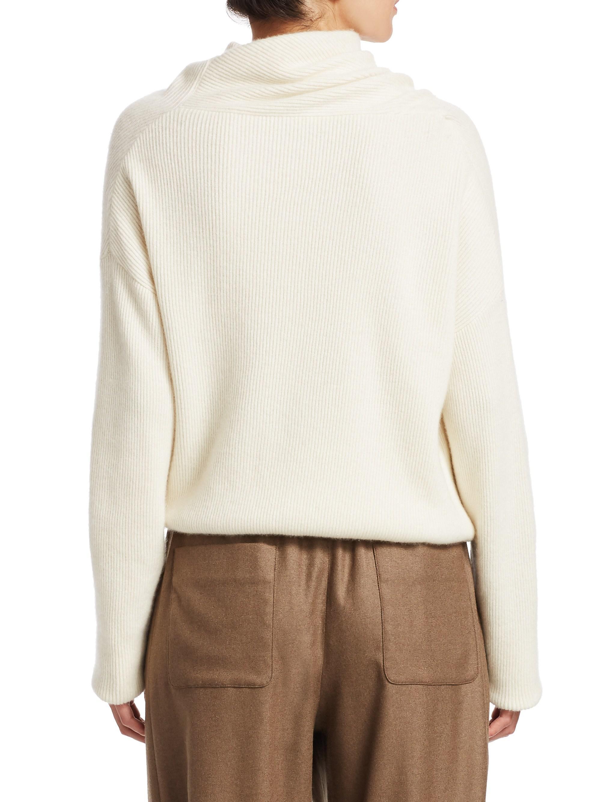 1b0ab949236b Lyst - Loro Piana Reswick Cashmere Draped Sweater in White