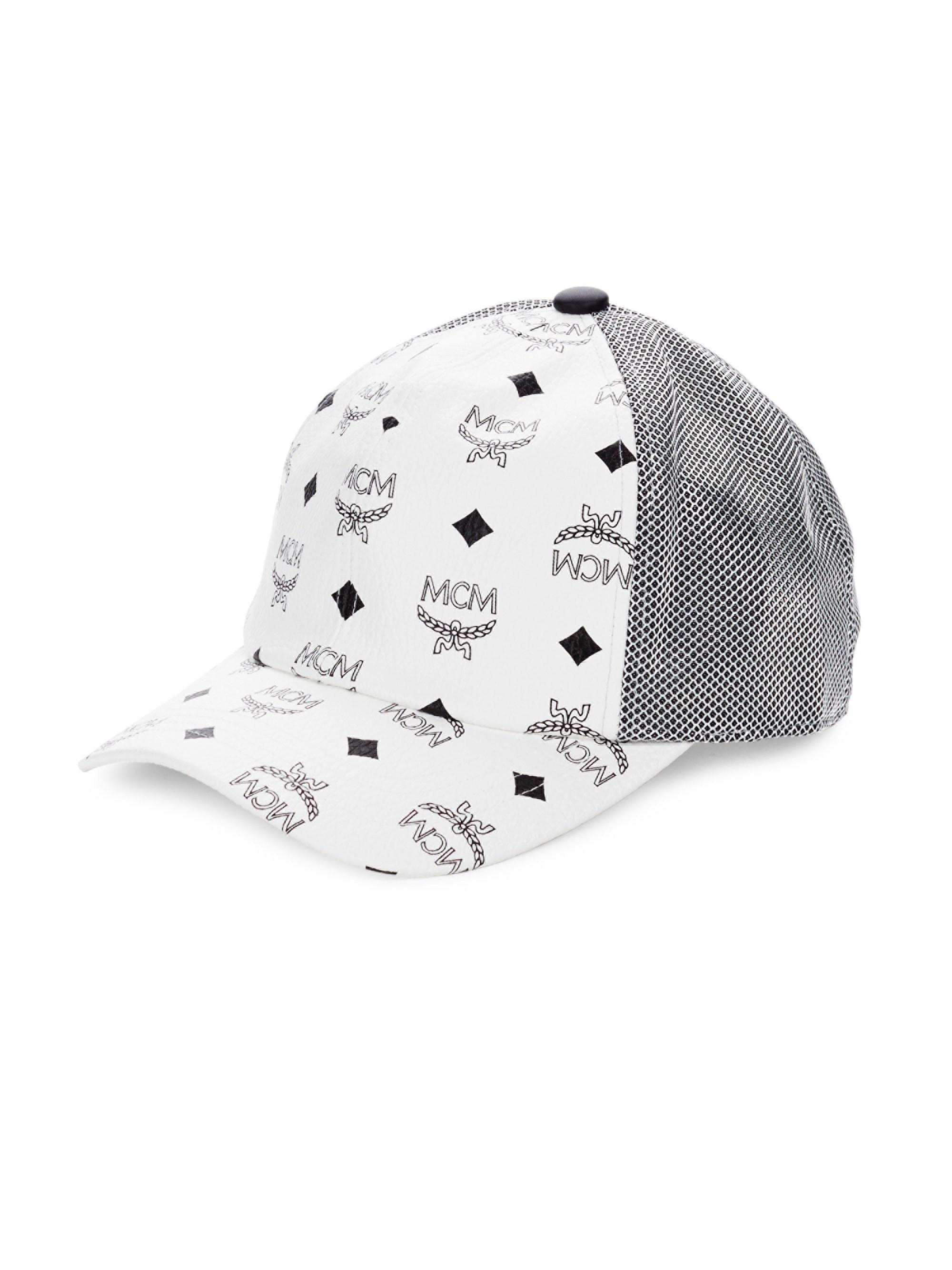 059e12527de Lyst - MCM Visetos Canvas Mesh Baseball Cap in White for Men