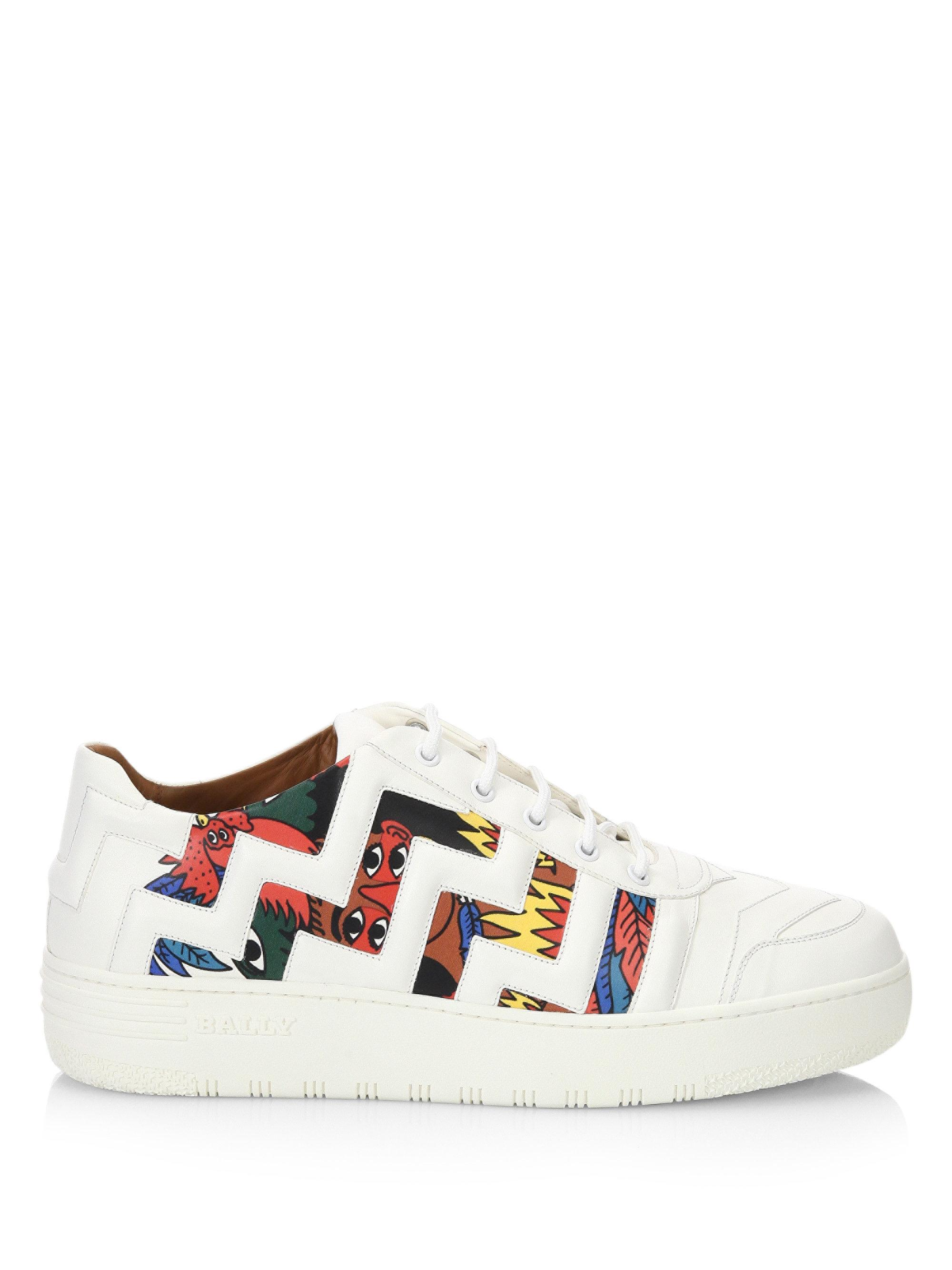 380ce83f9ff041 Bally X Swizz Beatz Leather Sneakers in White - Lyst