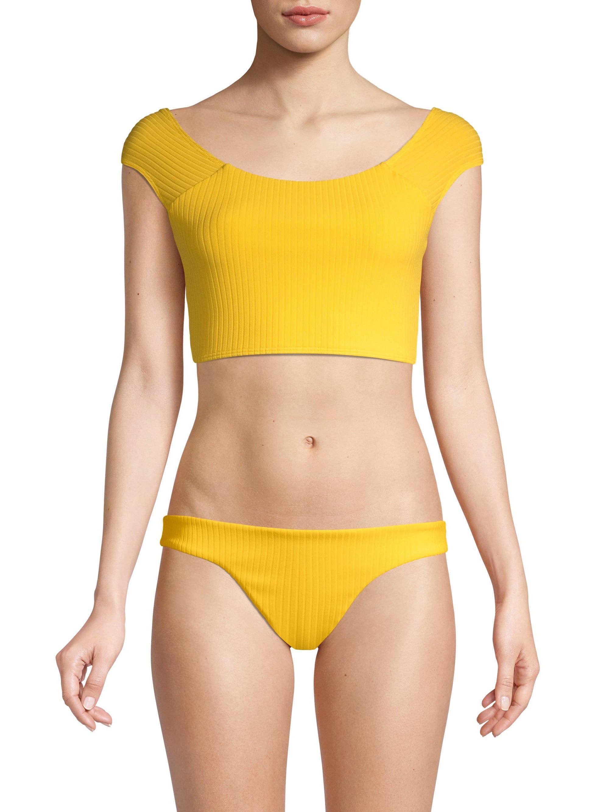 1ff626a067 Lyst - Mara Hoffman Naomi Bikini Top in Yellow