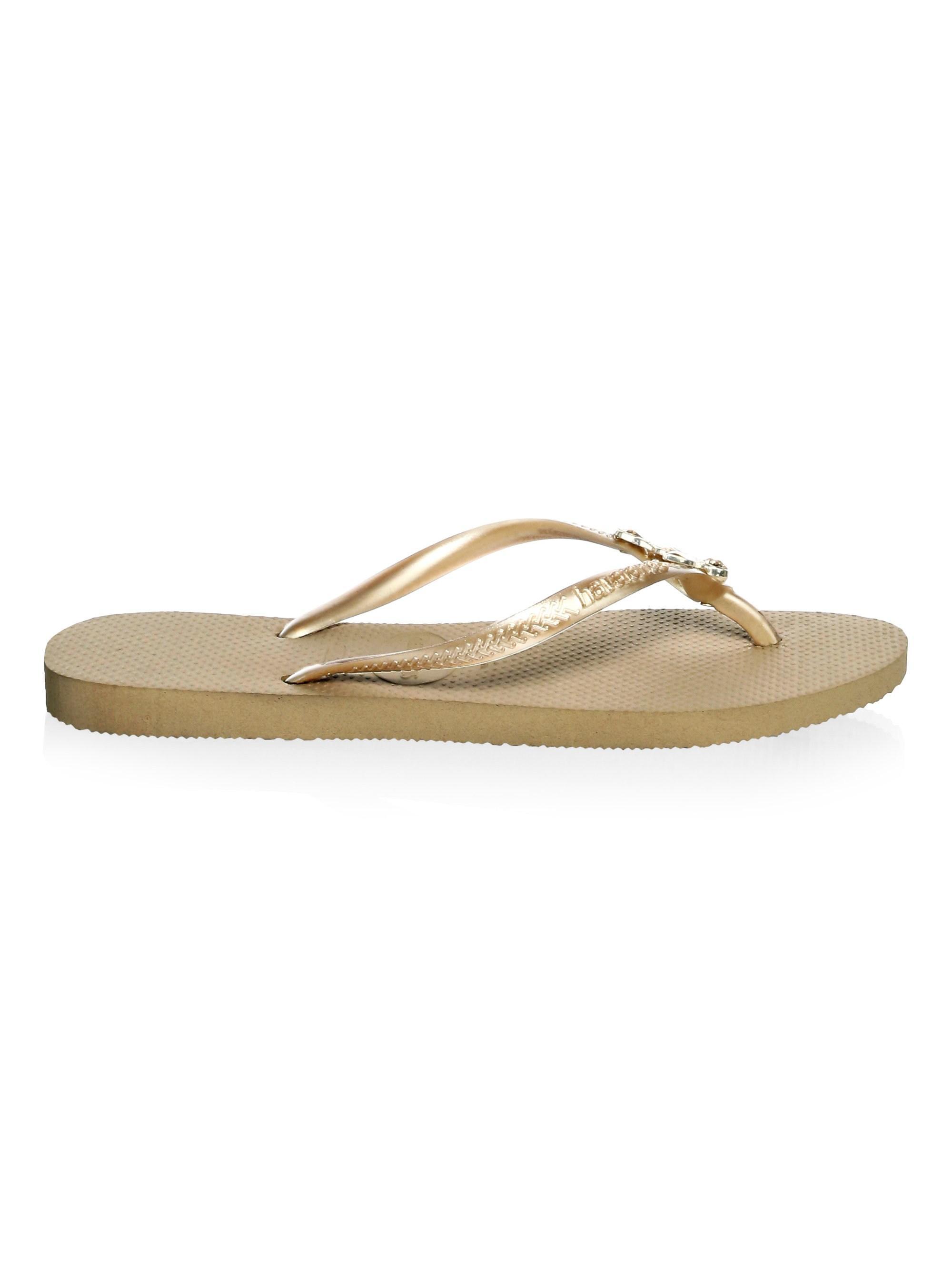 183c07d3df8b2 Lyst - Havaianas Women s Slim Lux Swarovski Crystal Flip Flops ...