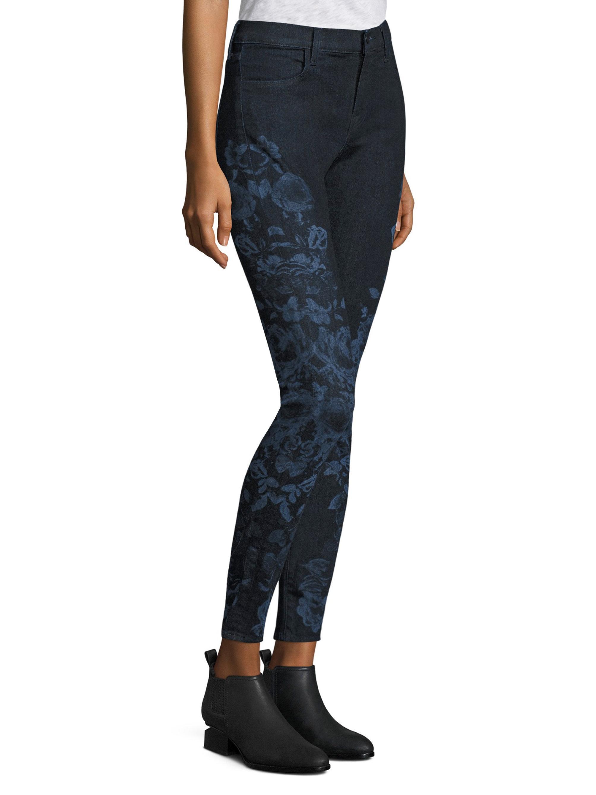 J brand floral skinny jeans
