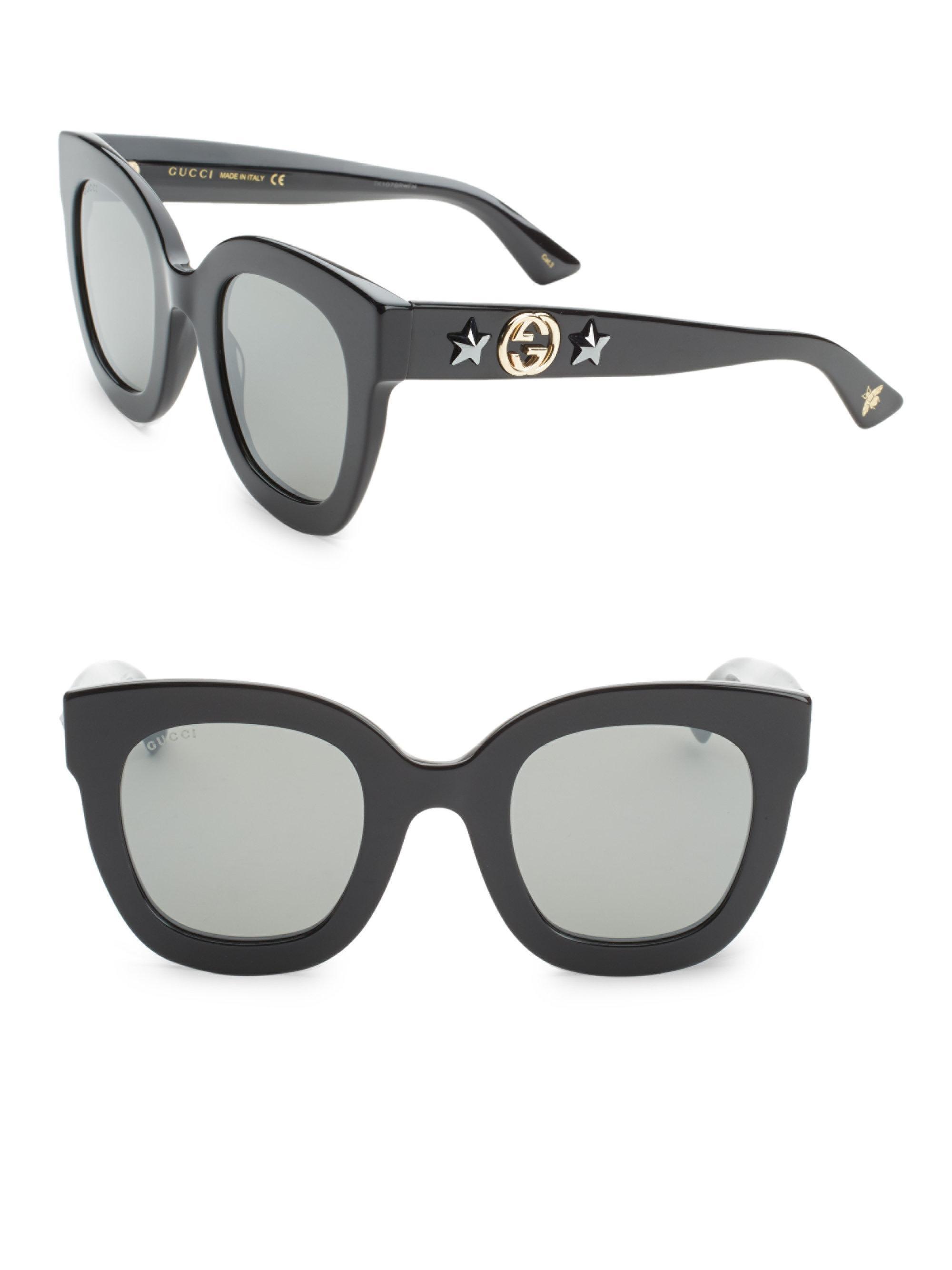 Black Oversized Rectangular Sunglasses Gucci rtQSR1Ig