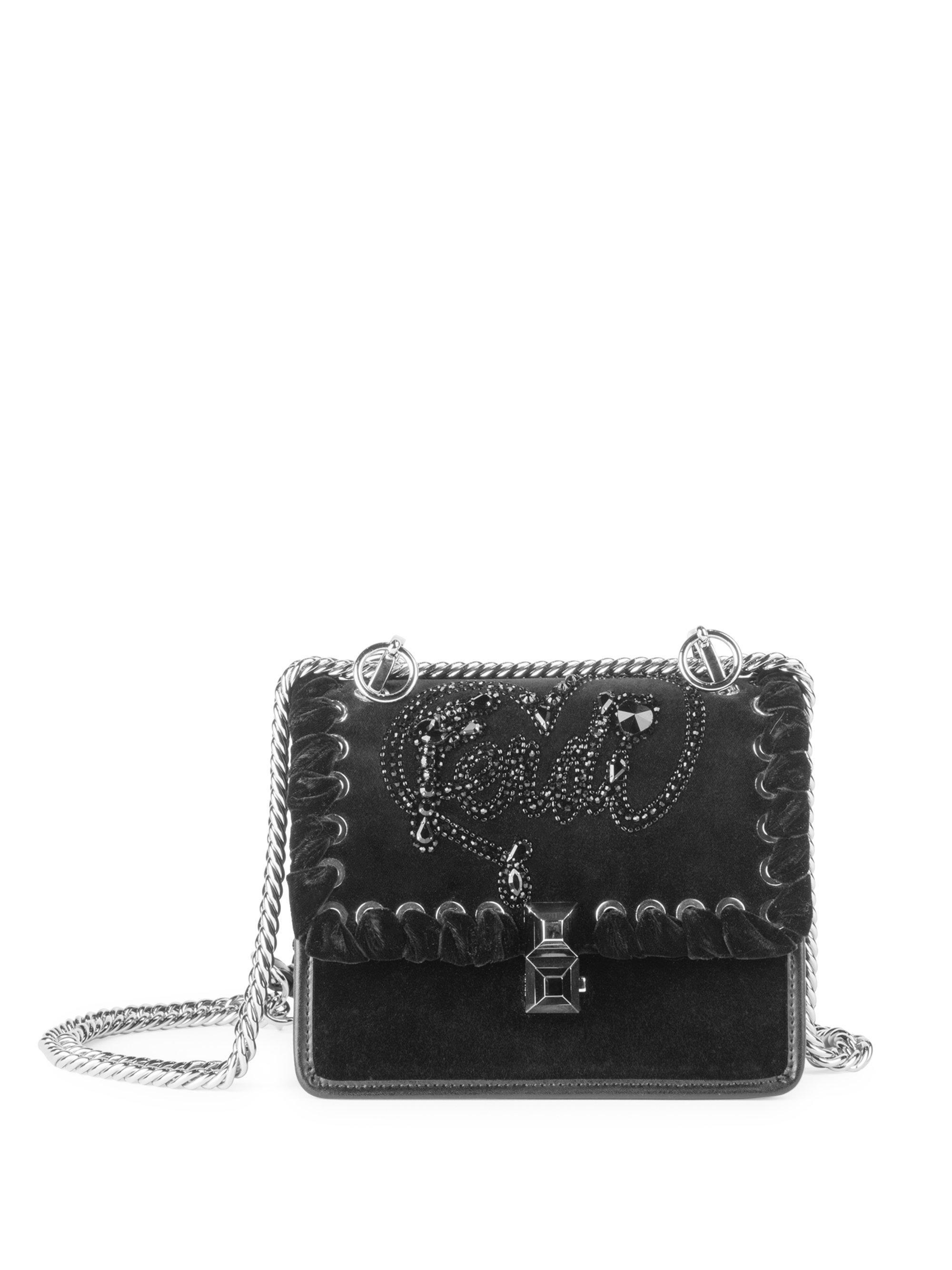 39236f24ba Lyst - Fendi Kan I Shoulder Bag in Black - Save 9.404388714733543%