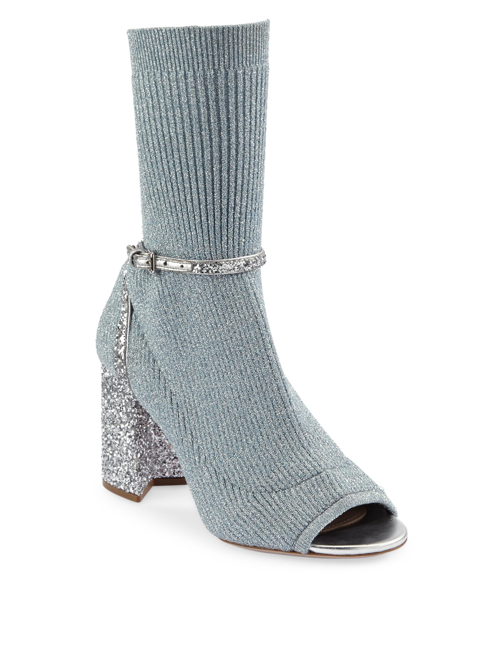 8e3122c34044 Gallery. Previously sold at  Saks Fifth Avenue · Women s Ankle Socks  Women s Miu Miu Glitter ...