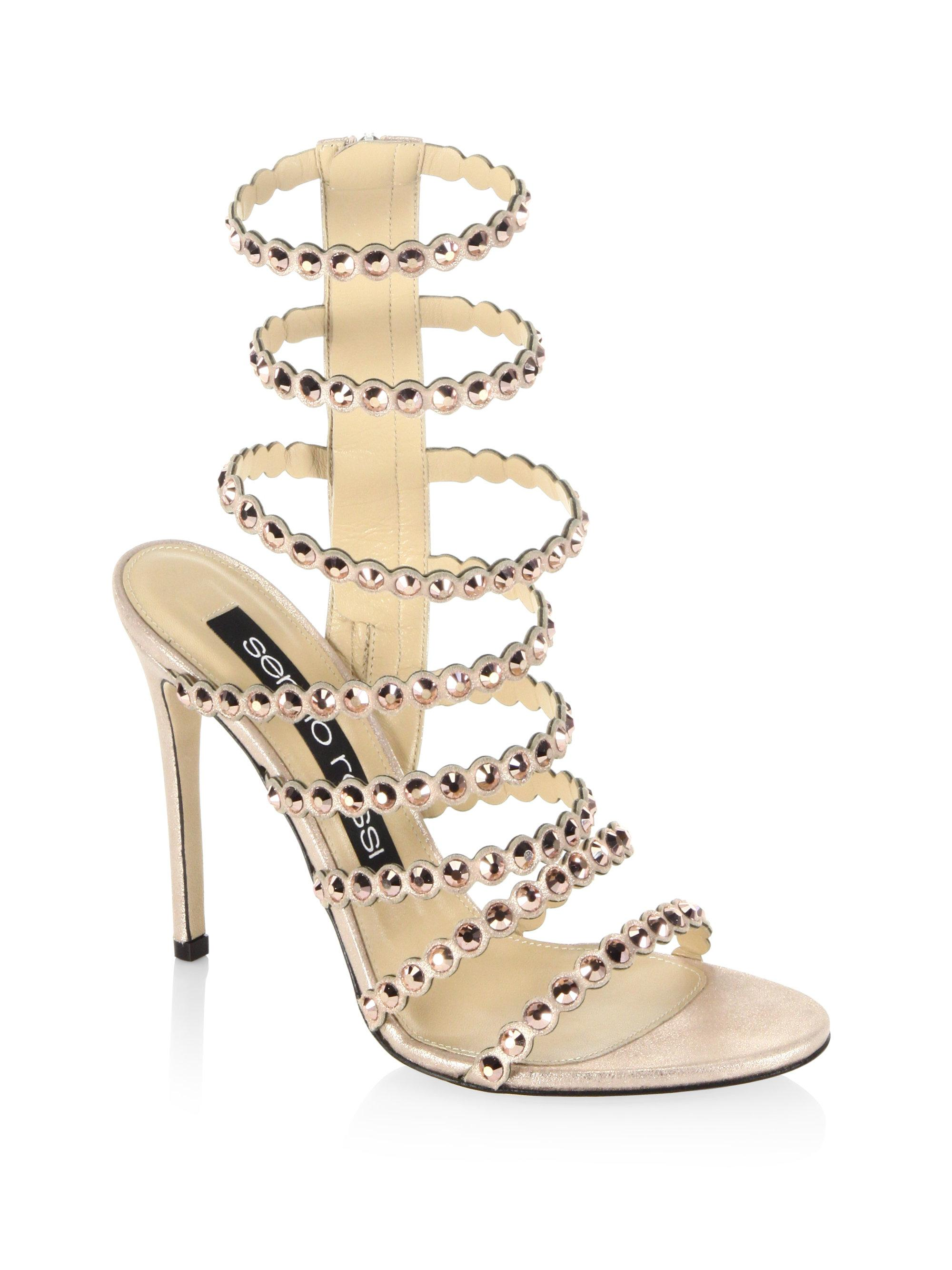 low price fee shipping cheap price lowest price cheap price Sergio Rossi Snakeskin Slingback Sandals QpdK5t