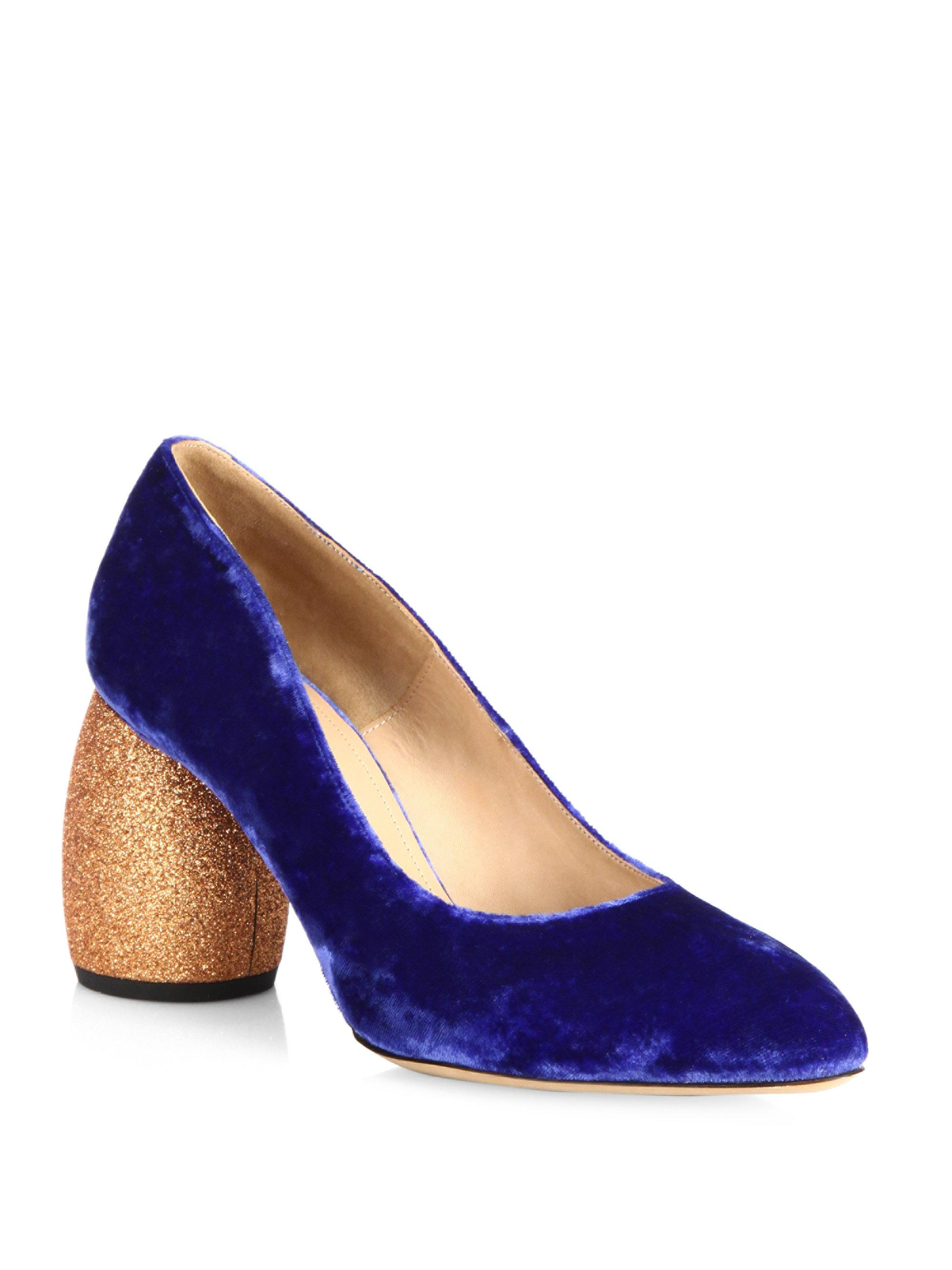 factory outlet cheap online ebay cheap price Dries Van Noten Velvet Pointed-Toe Pumps cheap best wholesale official for sale cheap sale from china oAb3s7FPkl
